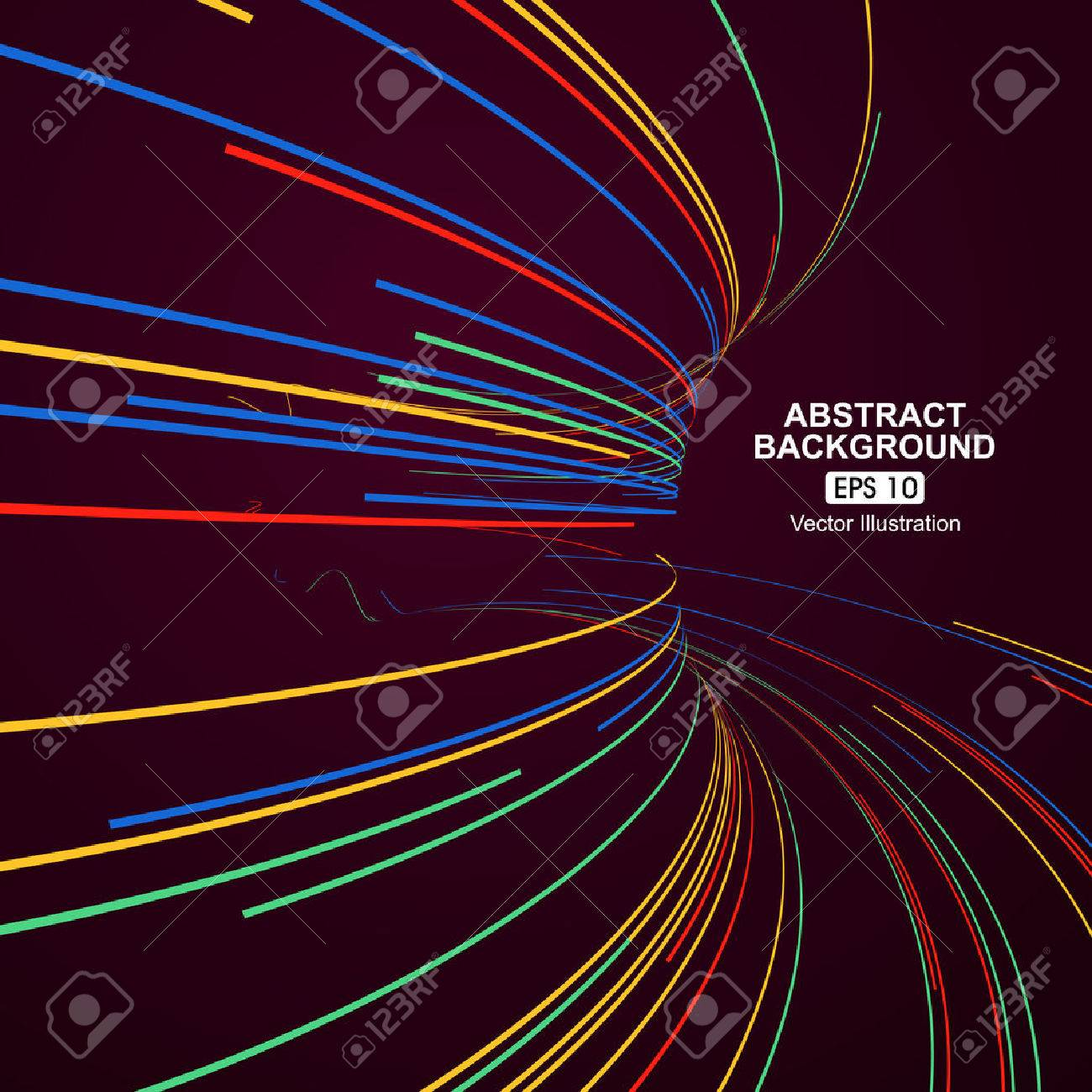 Colourful curve lines abstract background - 52591888