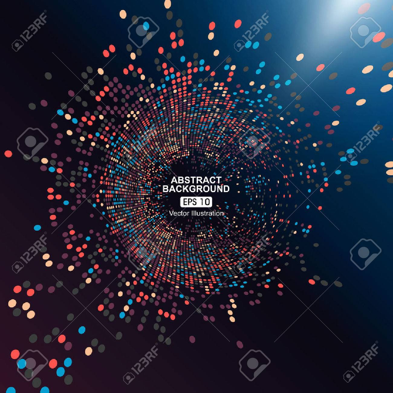 Consisting of colorful little, radial graphics, abstract background. - 52594708