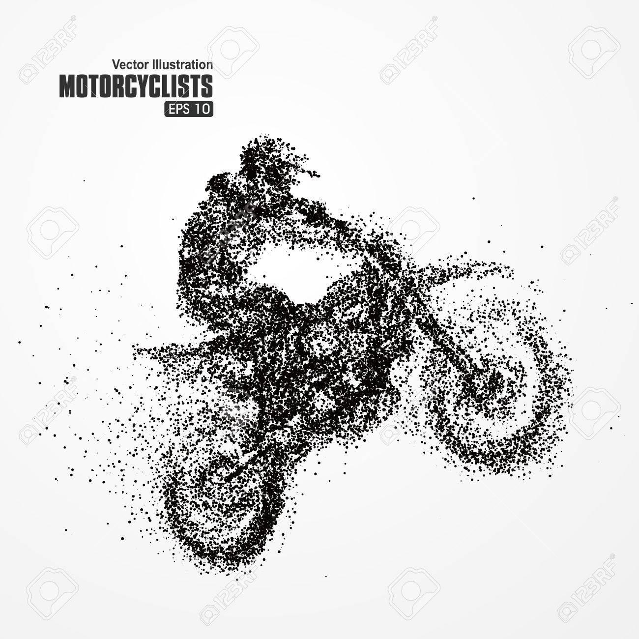 Particles biker, full of enterprising across significance vector illustration. - 52738011