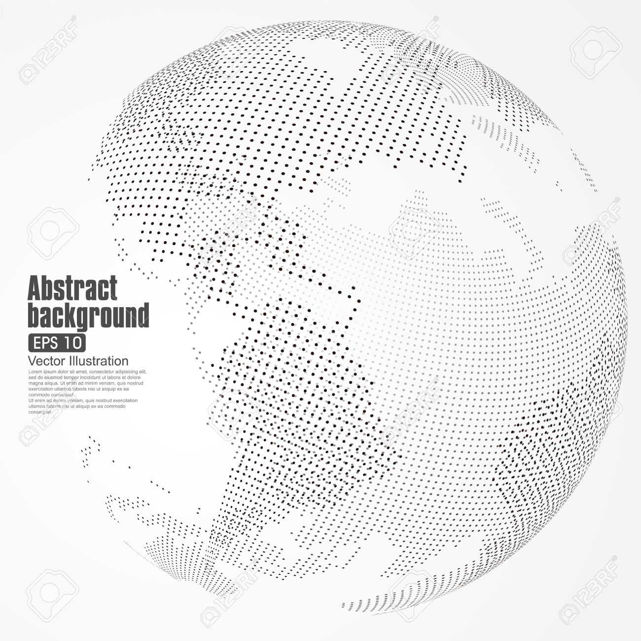 Three dimensional abstract planet dot world map consisting of three dimensional abstract planet dot world map consisting of representing the global gumiabroncs Choice Image