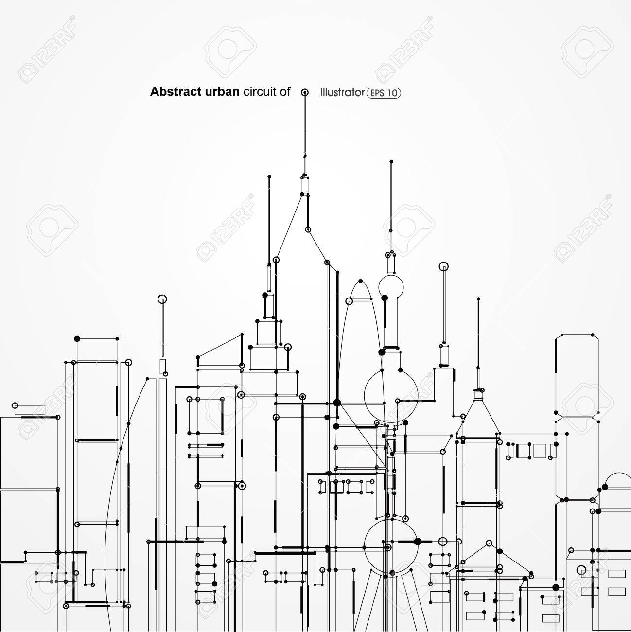 Abstract urban circuit of - 53259012