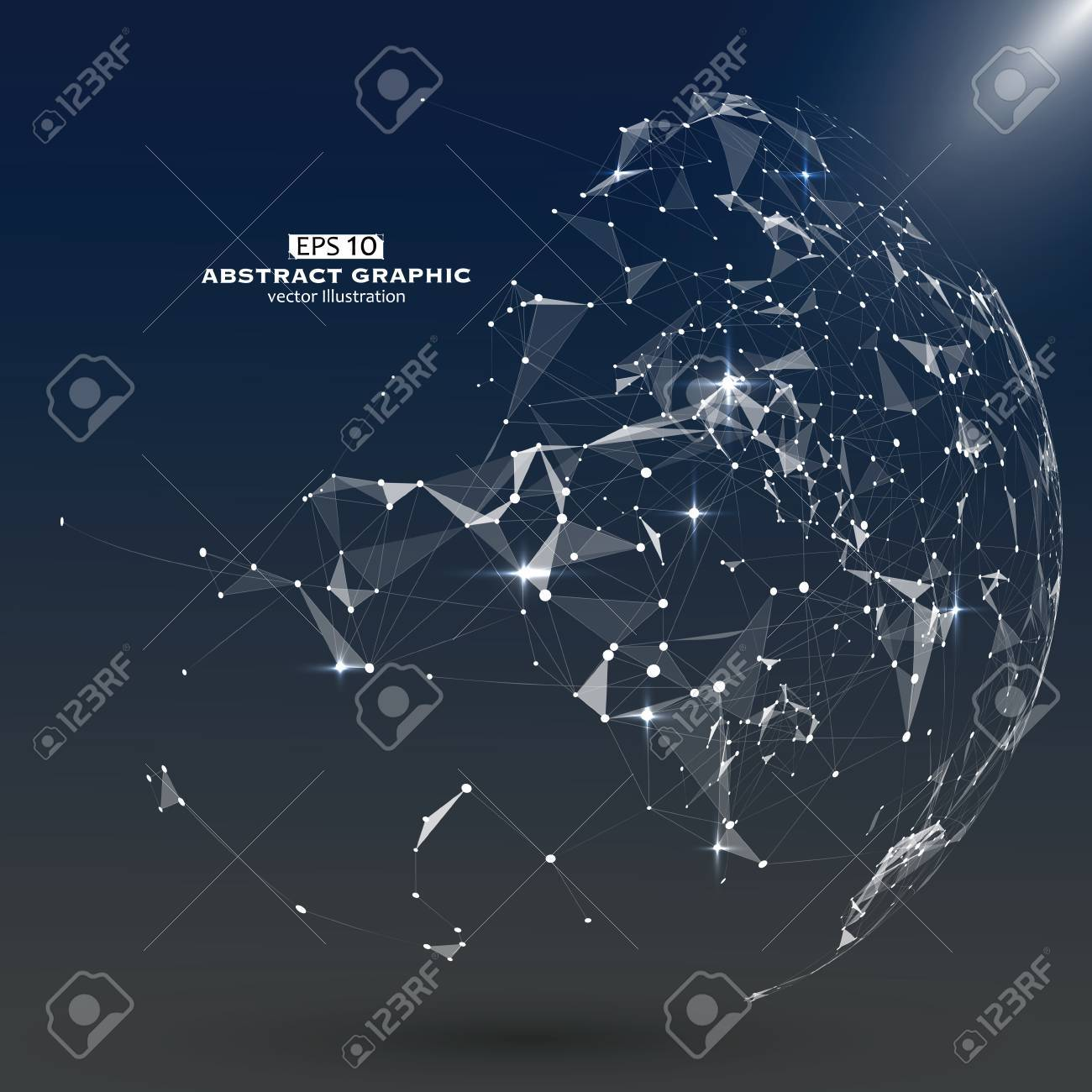 Abstract Map Of The World.Point Line And Constitute An Abstract Map Of The World A Sense