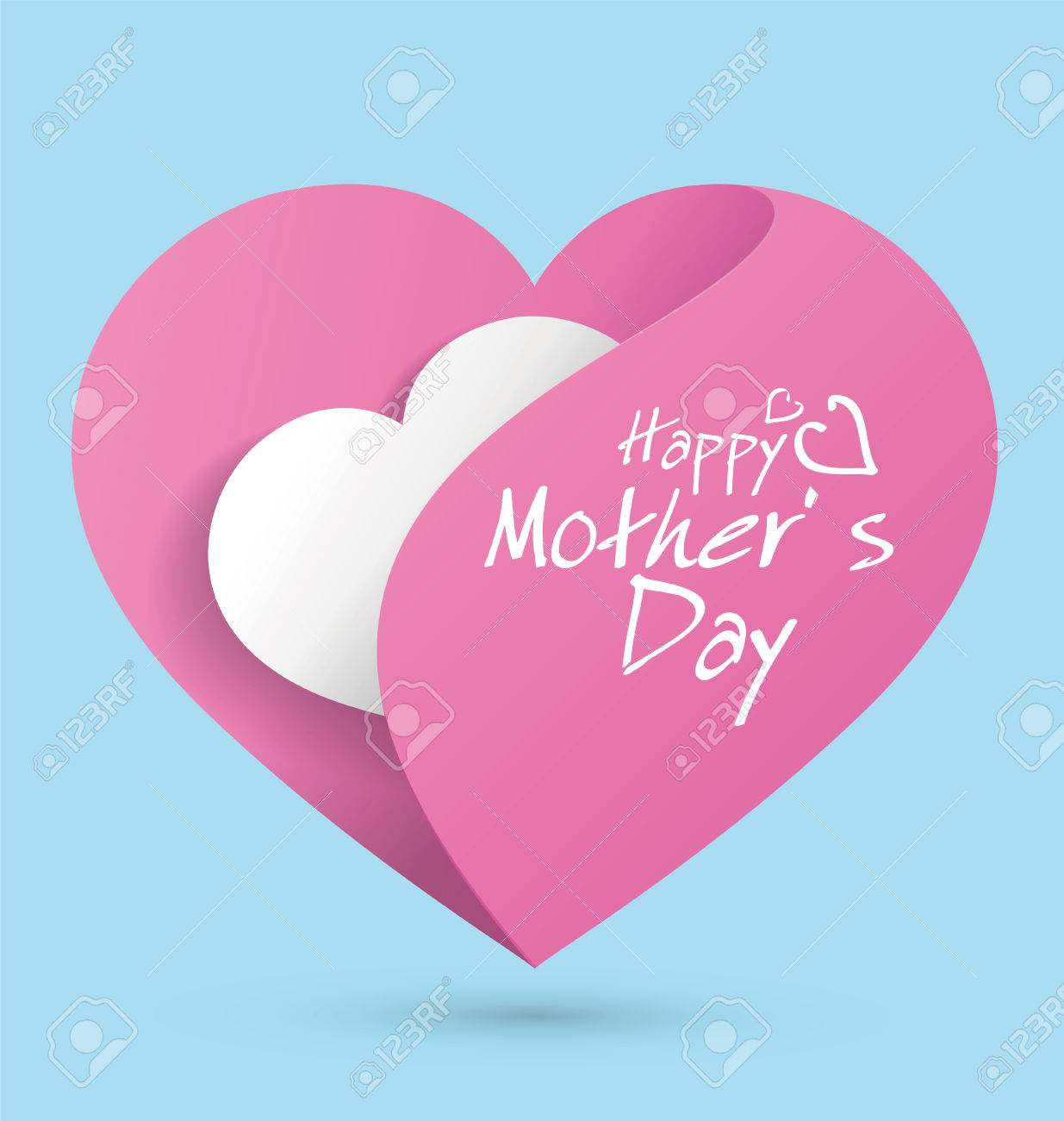 mother u0027s day themed heart shaped graphic design royalty free
