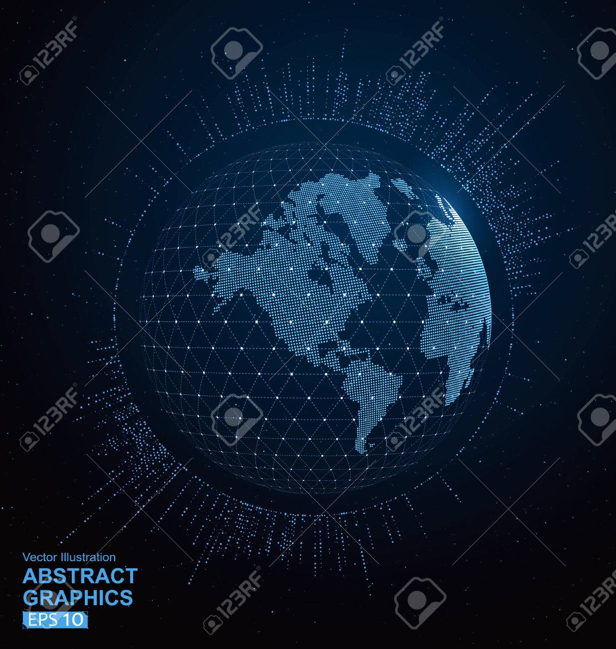World map dots and lines create global network connection royalty vector world map dots and lines create global network connection concept background gumiabroncs Images
