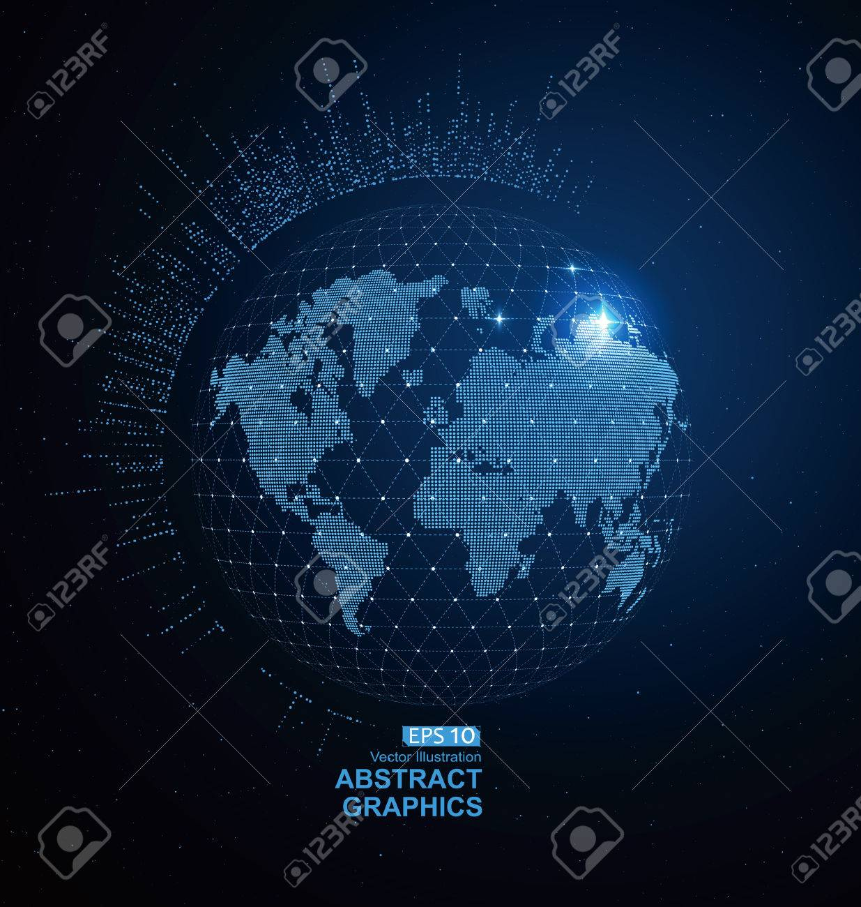 World map dots and lines create global network connection royalty vector world map dots and lines create global network connection concept background gumiabroncs Image collections
