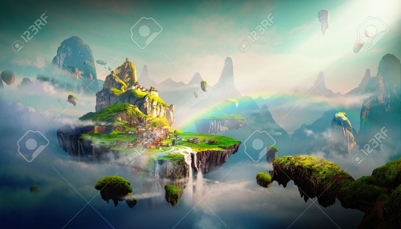 Chinese style fantasy scenes. - 78848353