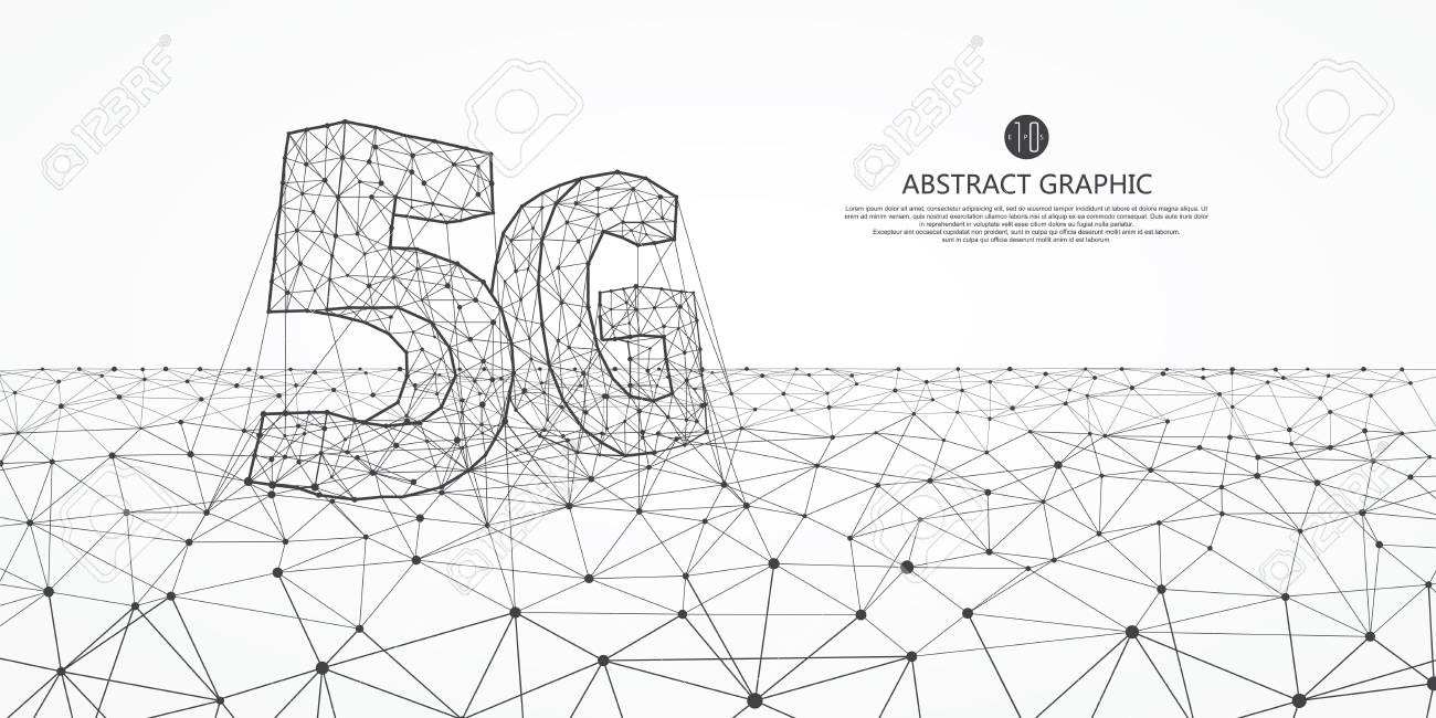 Internet connection, the concept of 5G whole network, abstract science and technology graphic design. - 117337805