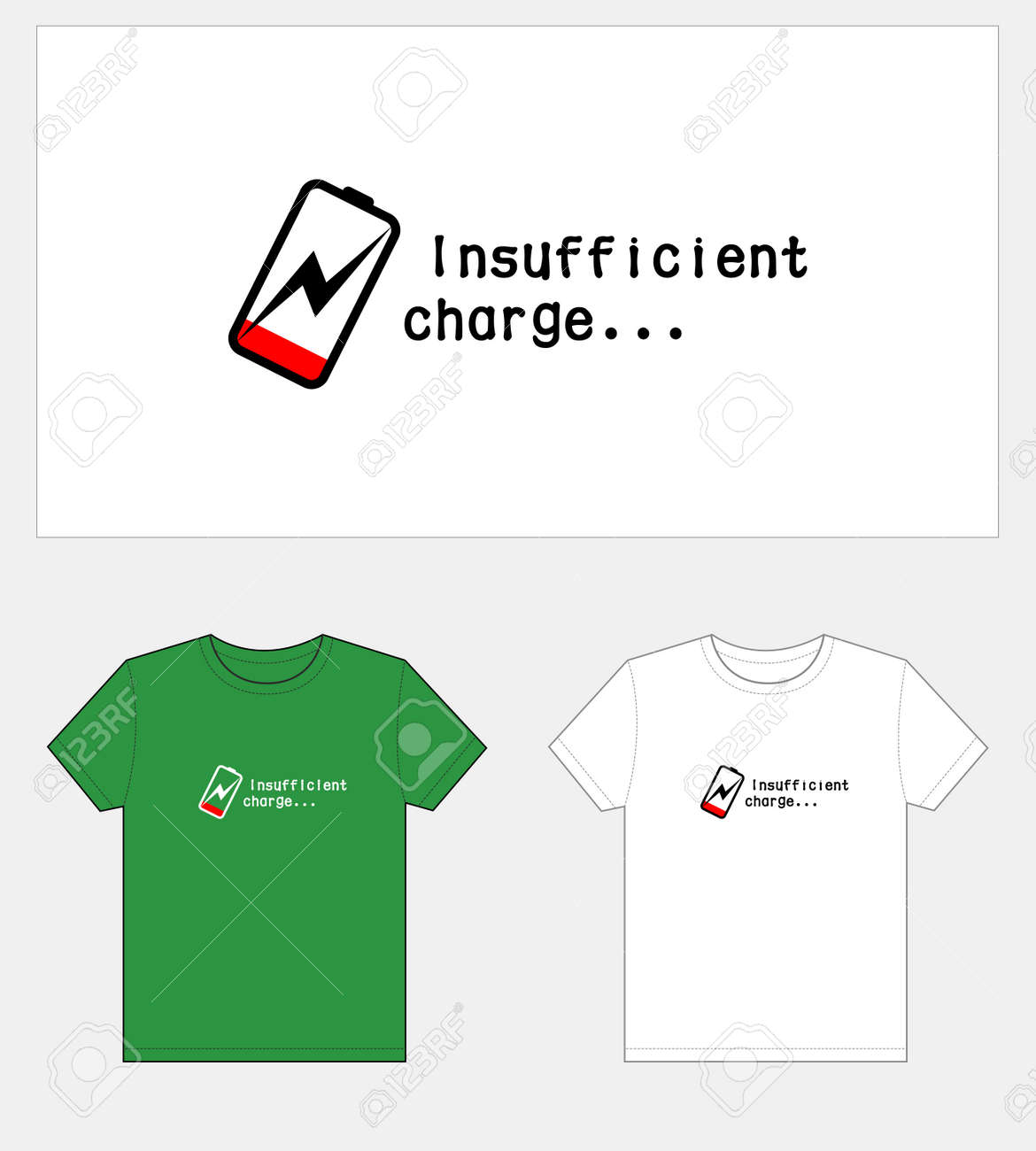 Low power, T-shirt graphic design. - 170928244