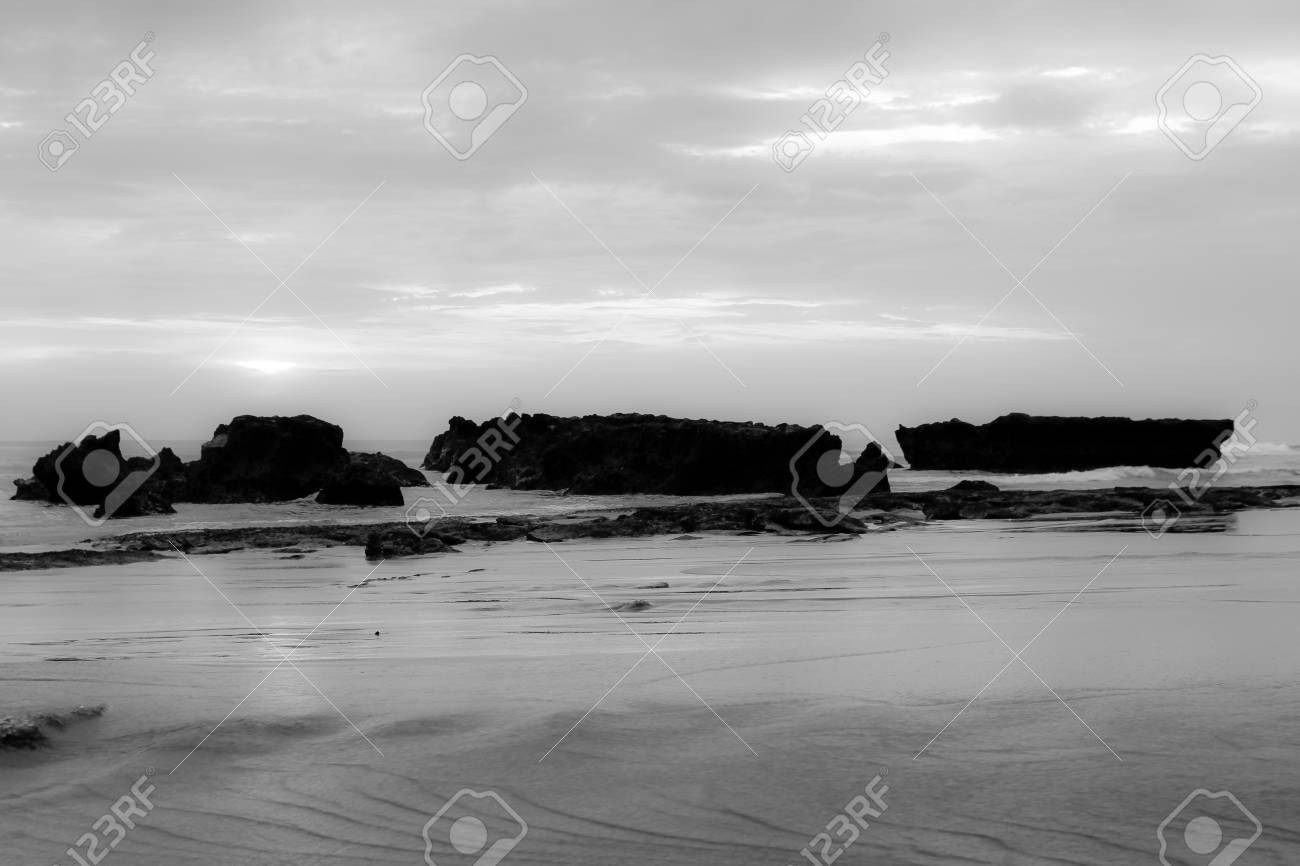 a beach of the ocean on a hot summer day Stock Photo - 18320376