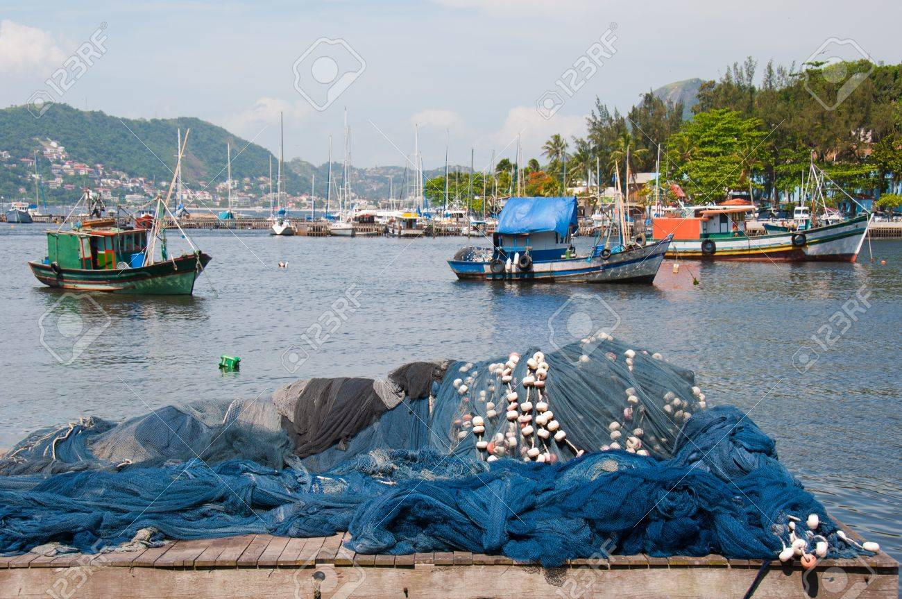 Fishing Boats. Rio de Janeiro, Brazil.The fishing industry thrives on tourism to Rio. Stock Photo - 10401982