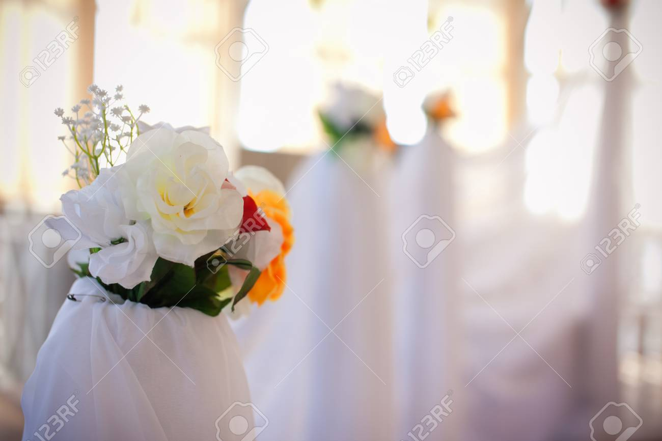 Eternal Element Of Wedding Decor In The Banquet Hall Stock Photo ...