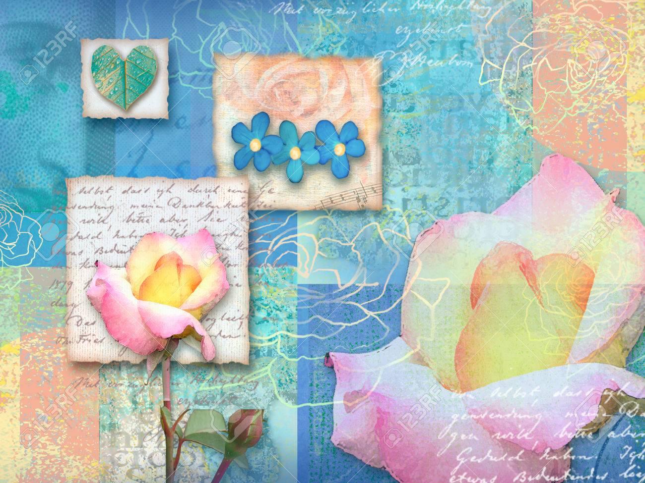 Al Matrimonio Auguri O Congratulazioni : Immagini stock bella blu cartolina floreale. carta di