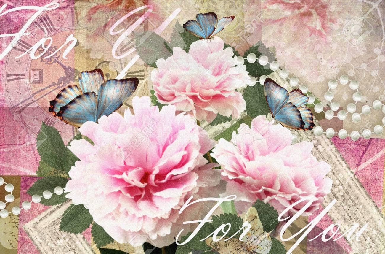 Al Matrimonio Auguri O Congratulazioni : Immagini stock fiore cartolina. carta di congratulazioni con