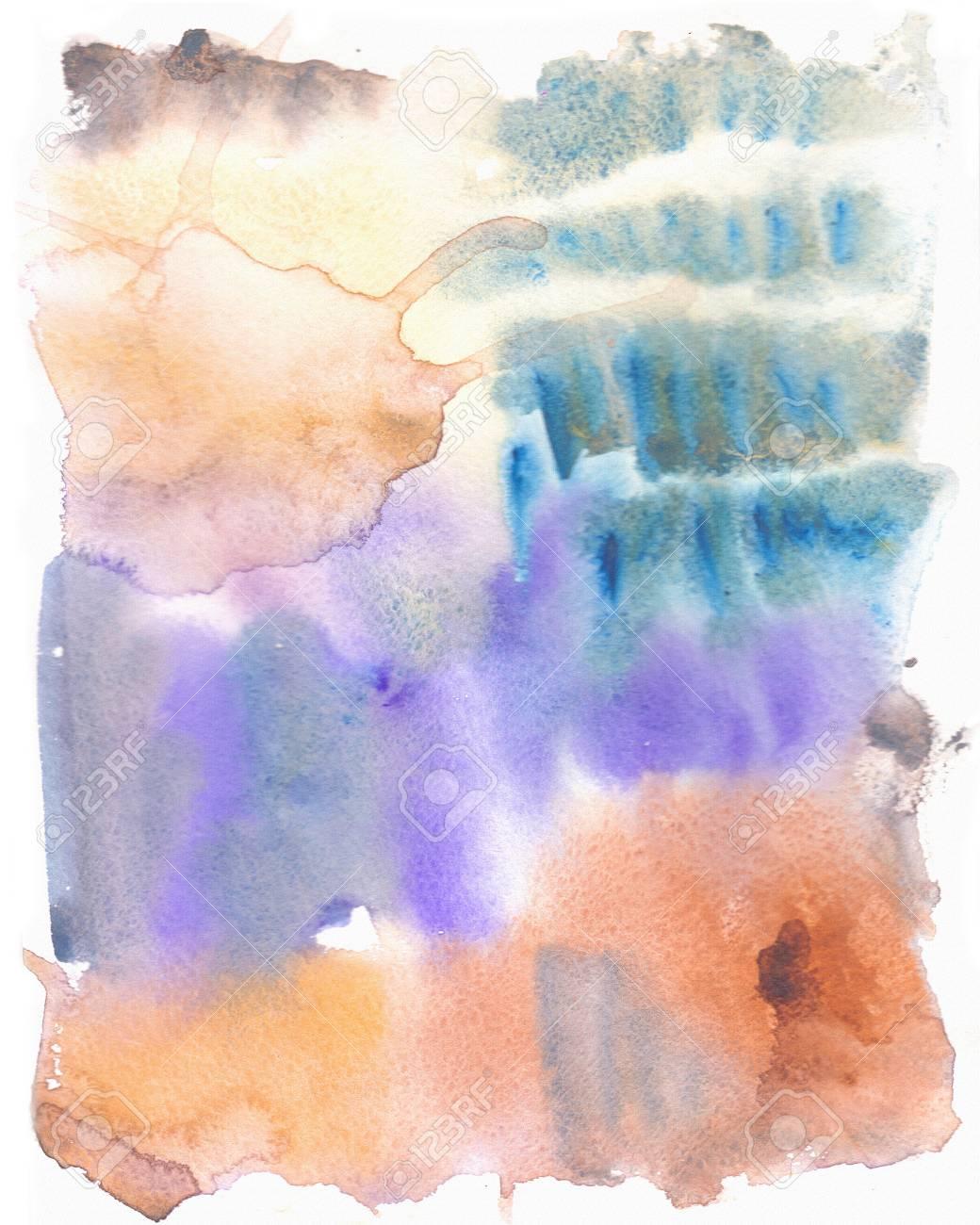 Abstrakte Kunst Aquarell Hand Malen Weiche Farbigen Abstrakten Hintergrund Fur Design Grunge Malen Hintergrund Bunte Illustration Aquarell Textur Gouache Flecken Flecken Flecken Nass Auf Trocken Papier Lizenzfreie Fotos Bilder Und Stock