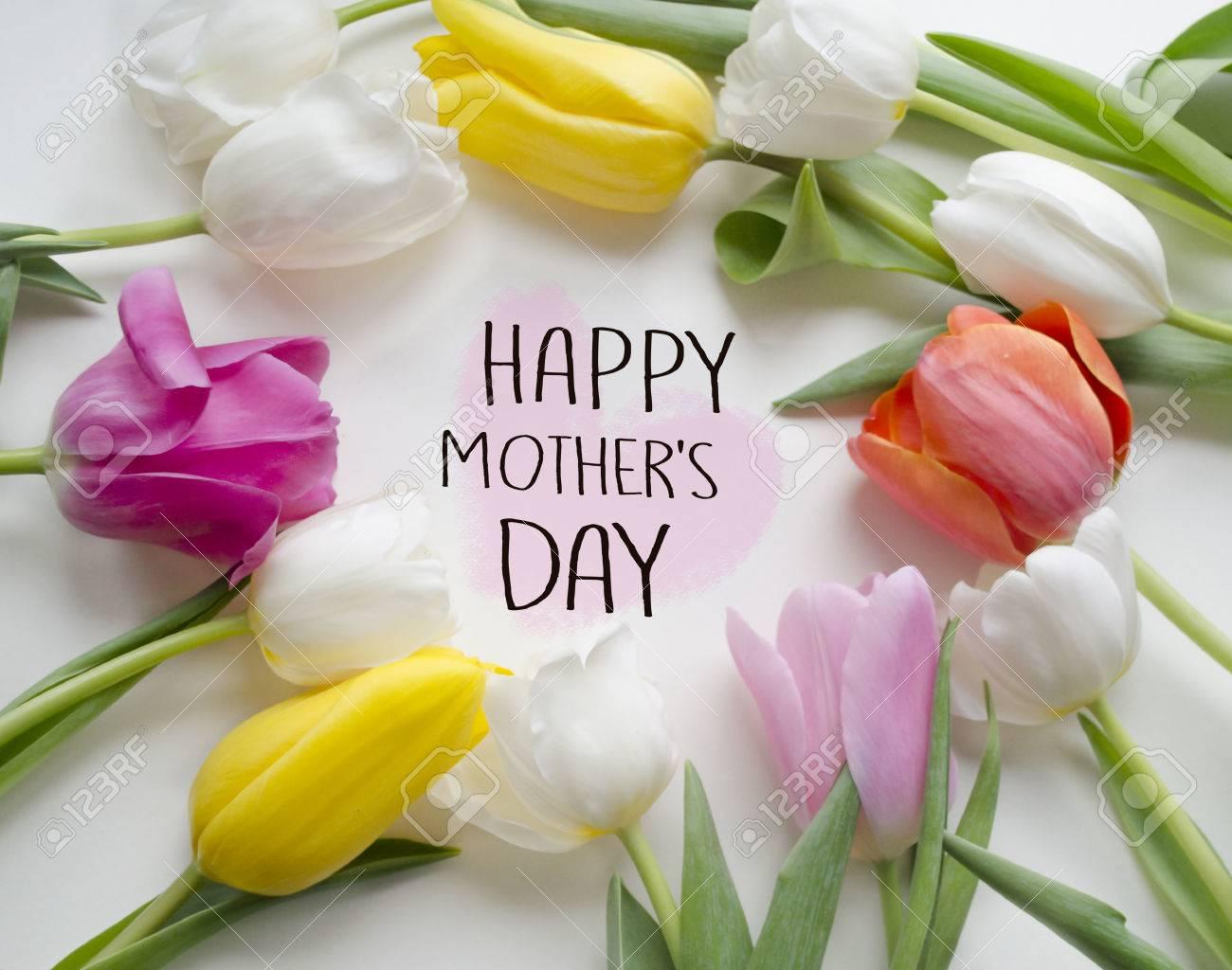 concepto de saludo de día de la madre flor hermosa del tulipán