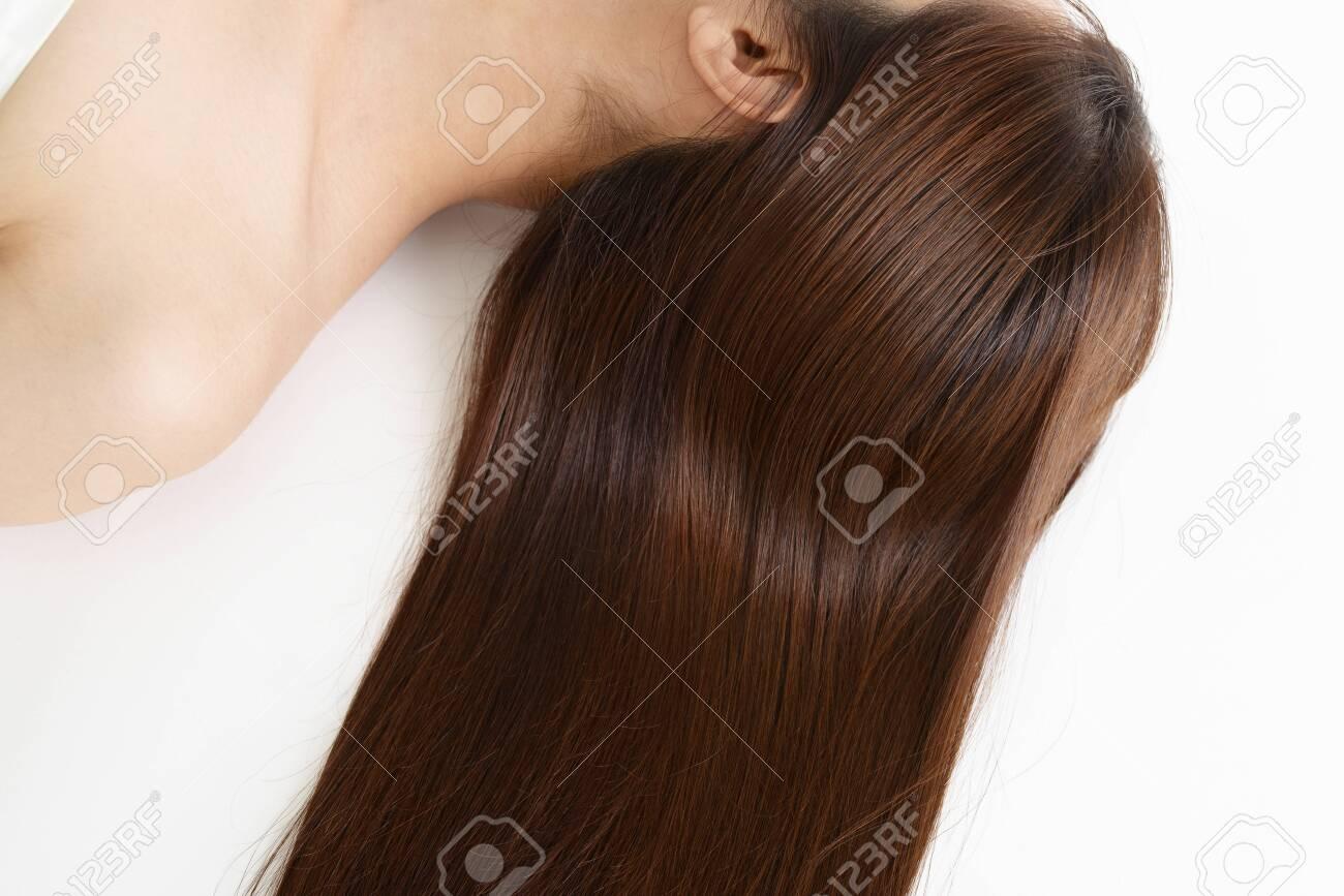 Woman with beautiful long hair - 131220878