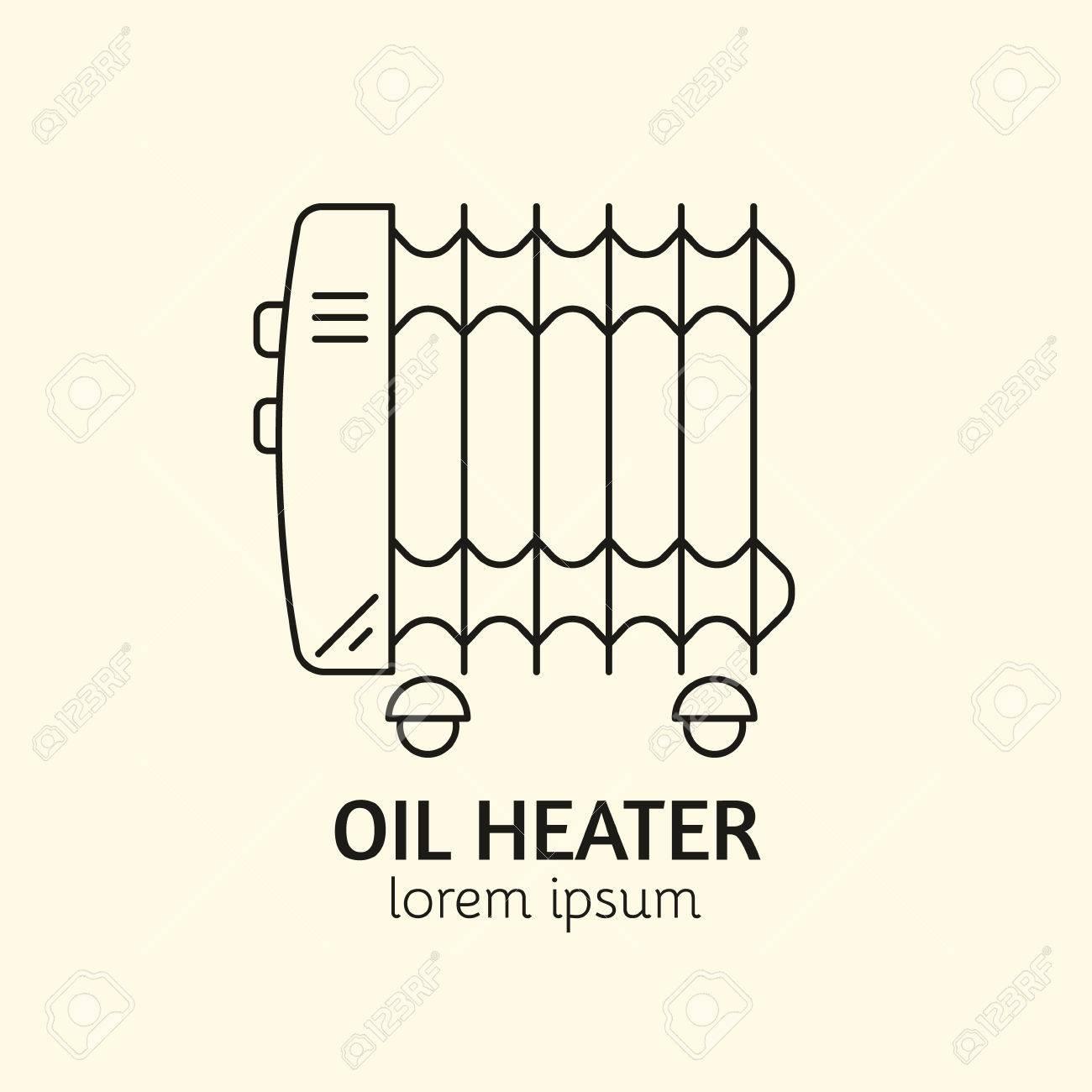 Logotipo De La Casa De Calefacción Individual. Ilustración Del ...