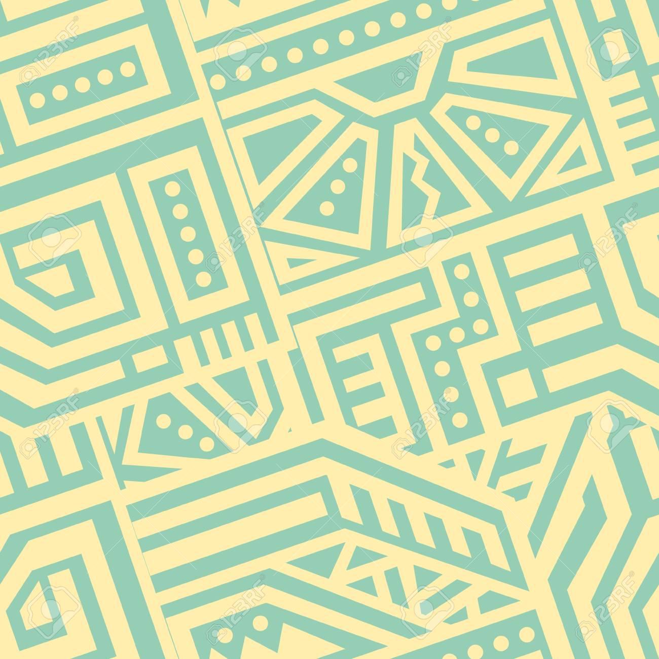 創造的なエスニック スタイルの正方形のシームレスなパターン