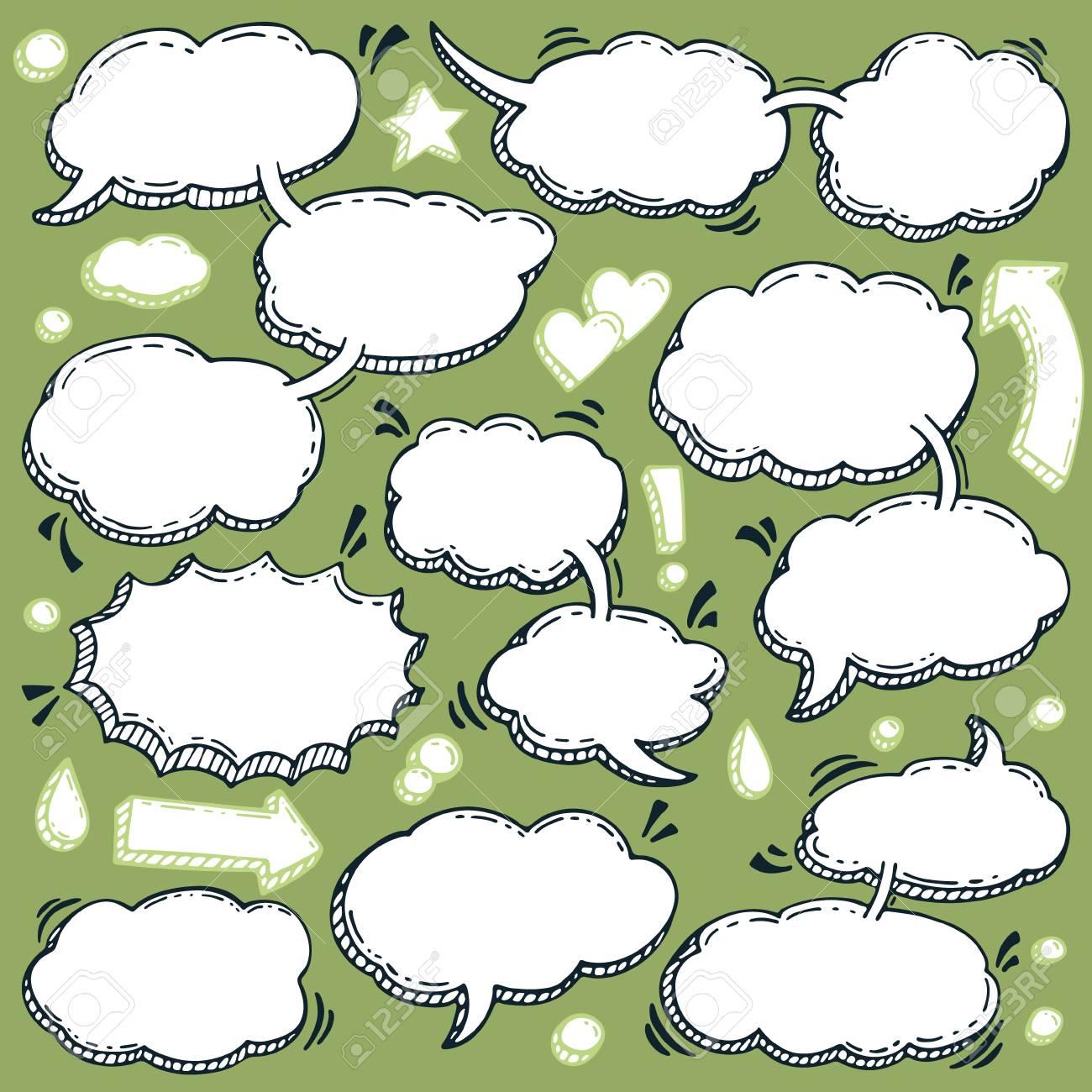 Unas Pocas Palabras Vectoriales Conjunto De Burbujas De Discurso ...