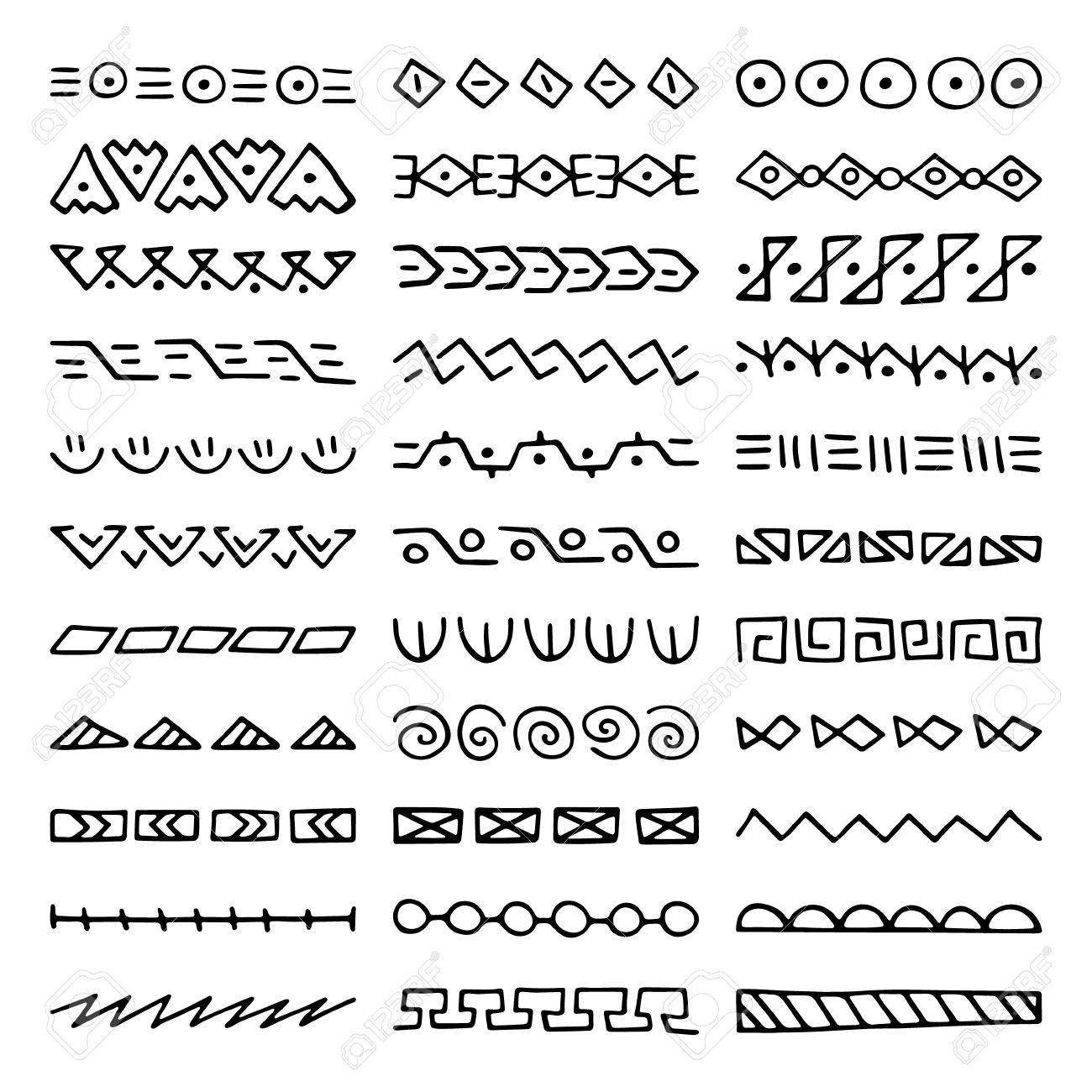 hand drawn vector dividers. set of borders for your blog posts