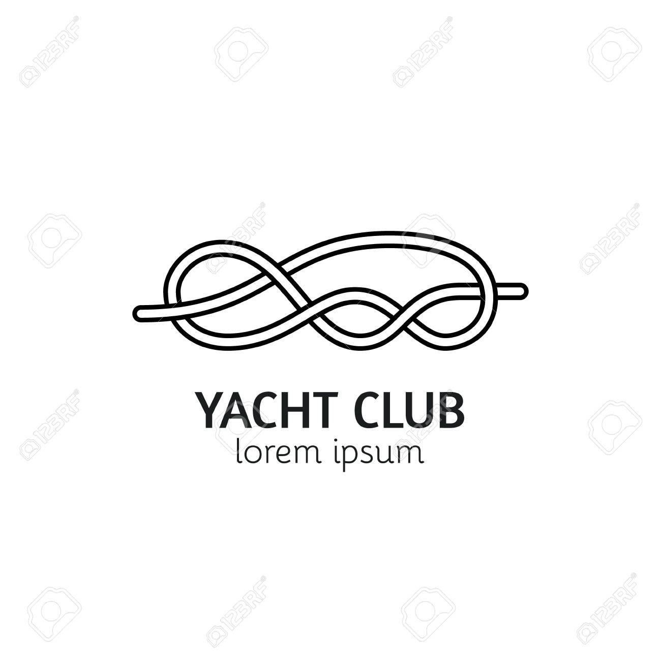 Unique Line Style Template With Sea Knot Editable Stroke Icon