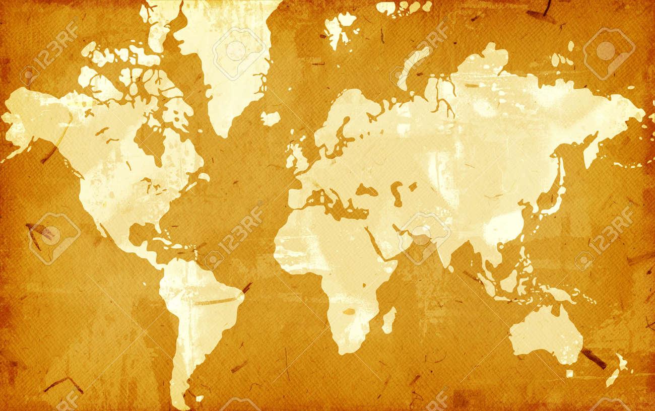 Computer designed highly detailed grunge world map background Stock Photo - 3859207