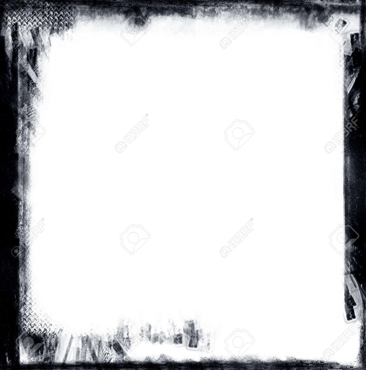 Computed designed gronge black border over white nice grunge element for your projects stock photo