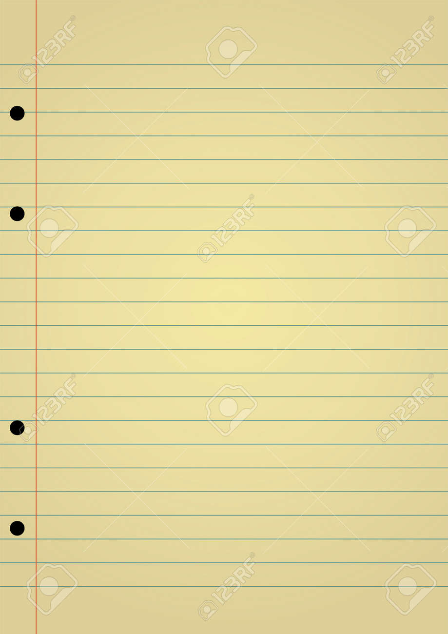 Editable Background Yellow Notebook Paper With Space For Your – Yellow Notebook Paper Background