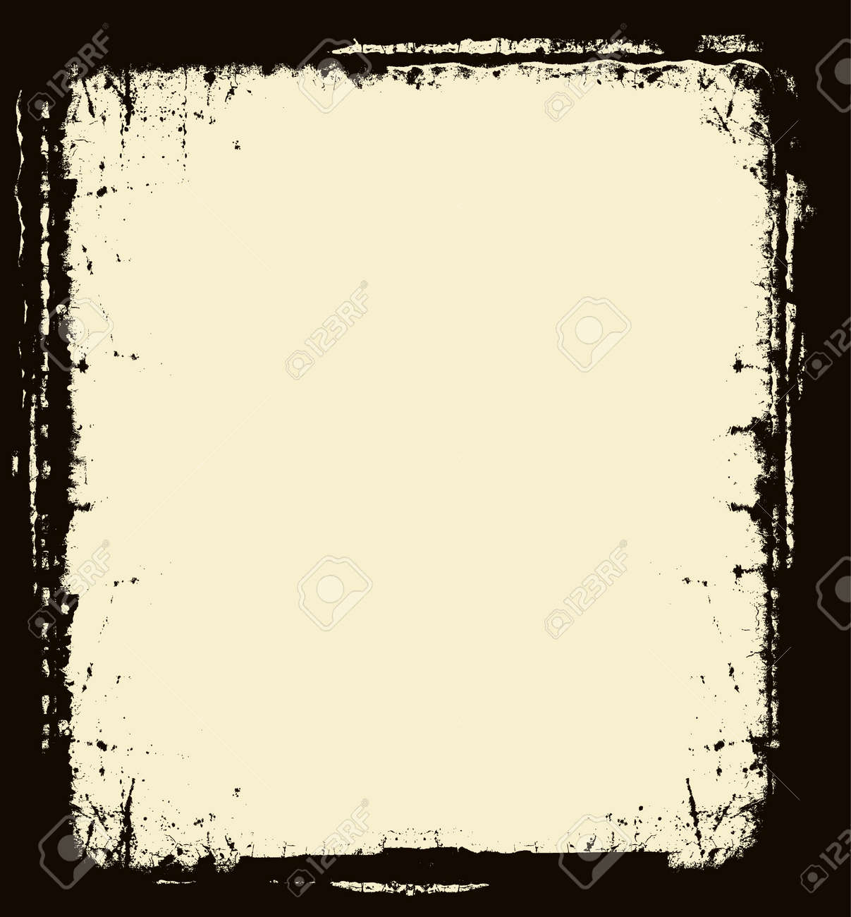 editable distressed dark border royalty free cliparts vectors and