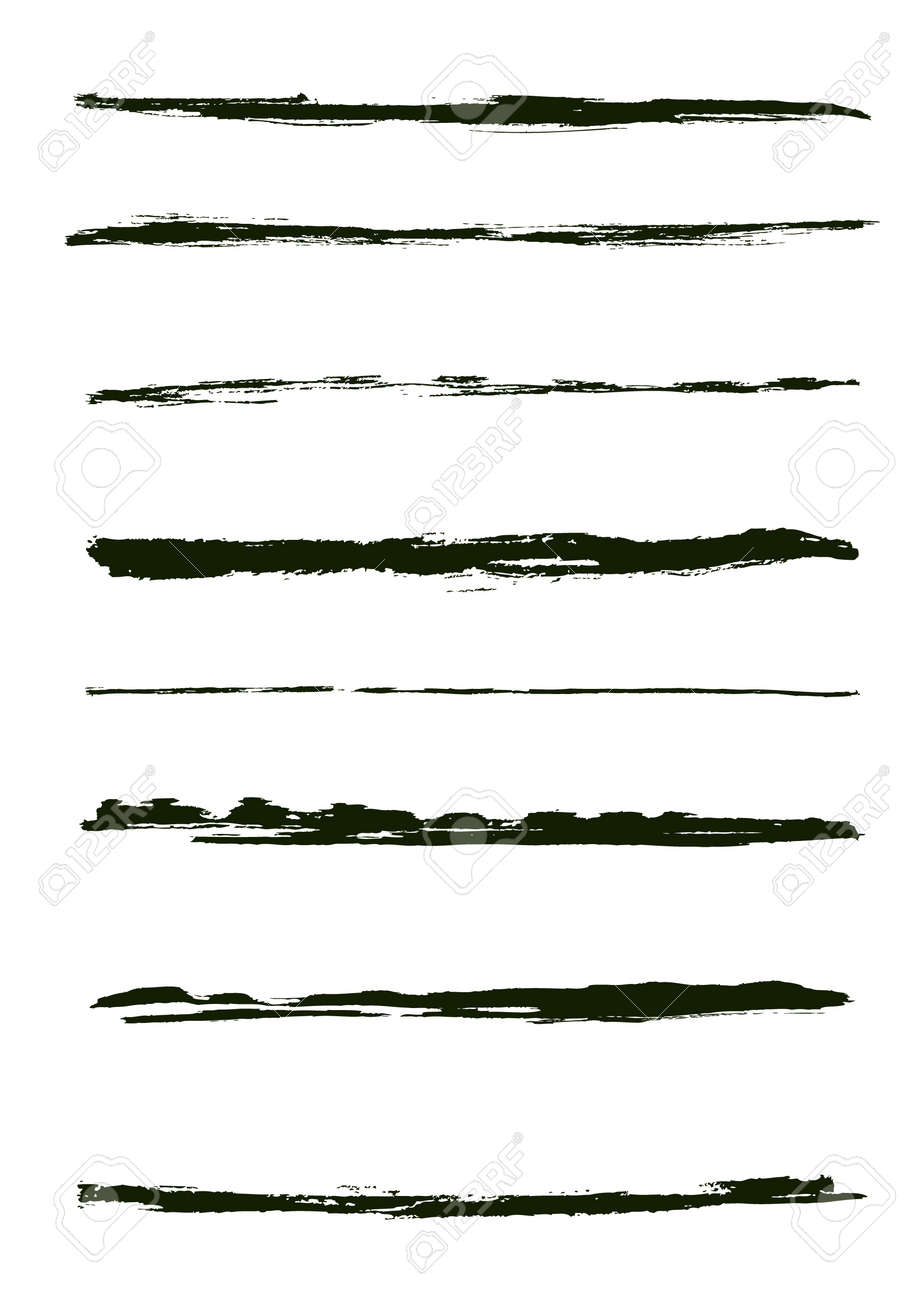 A set of grunge brush strokes (individual objects). Stock Vector - 7316134