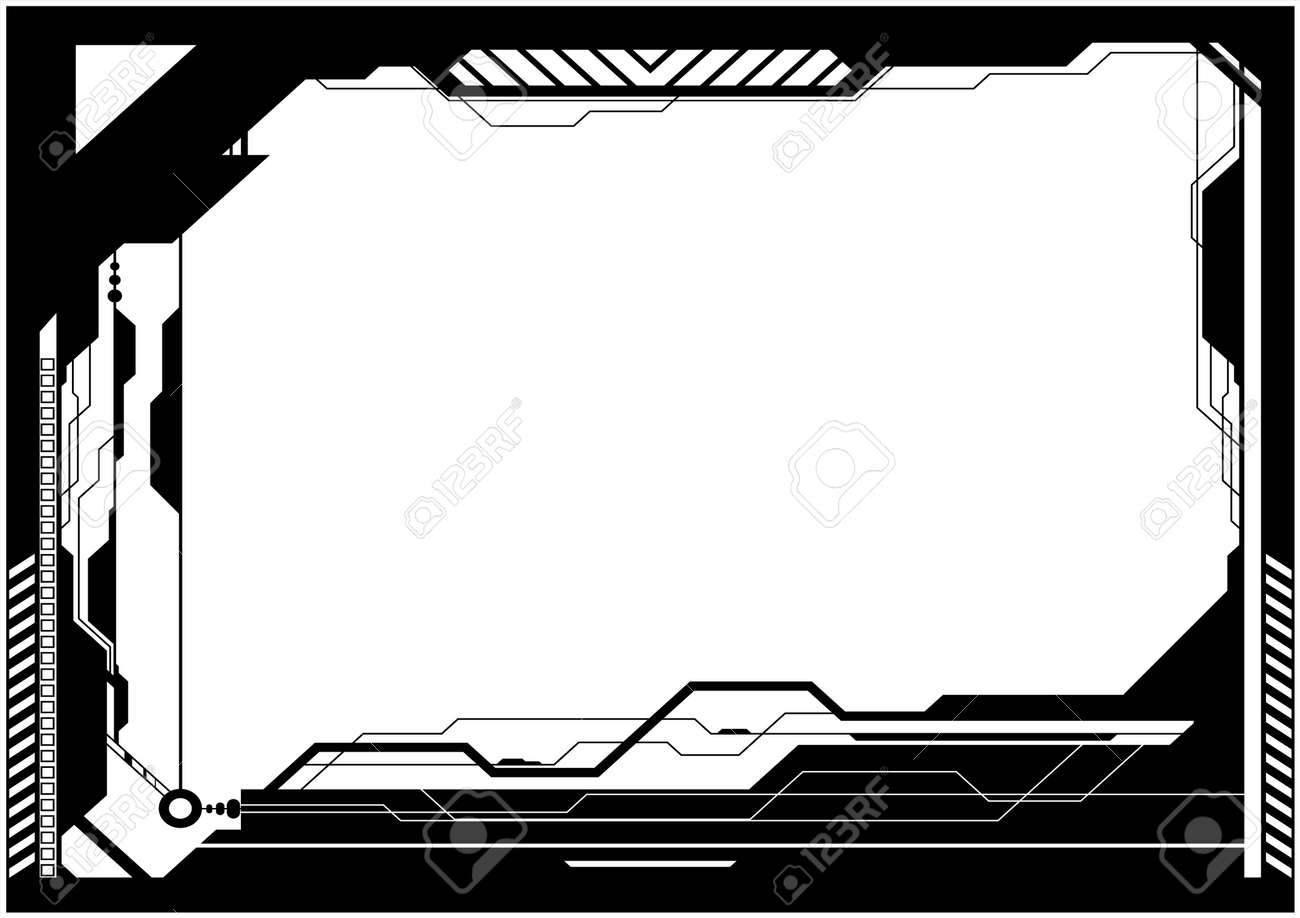 editable vector high tech futuristic frame with space for your royalty free cliparts vectors and stock illustration image 7533624 editable vector high tech futuristic frame with space for your