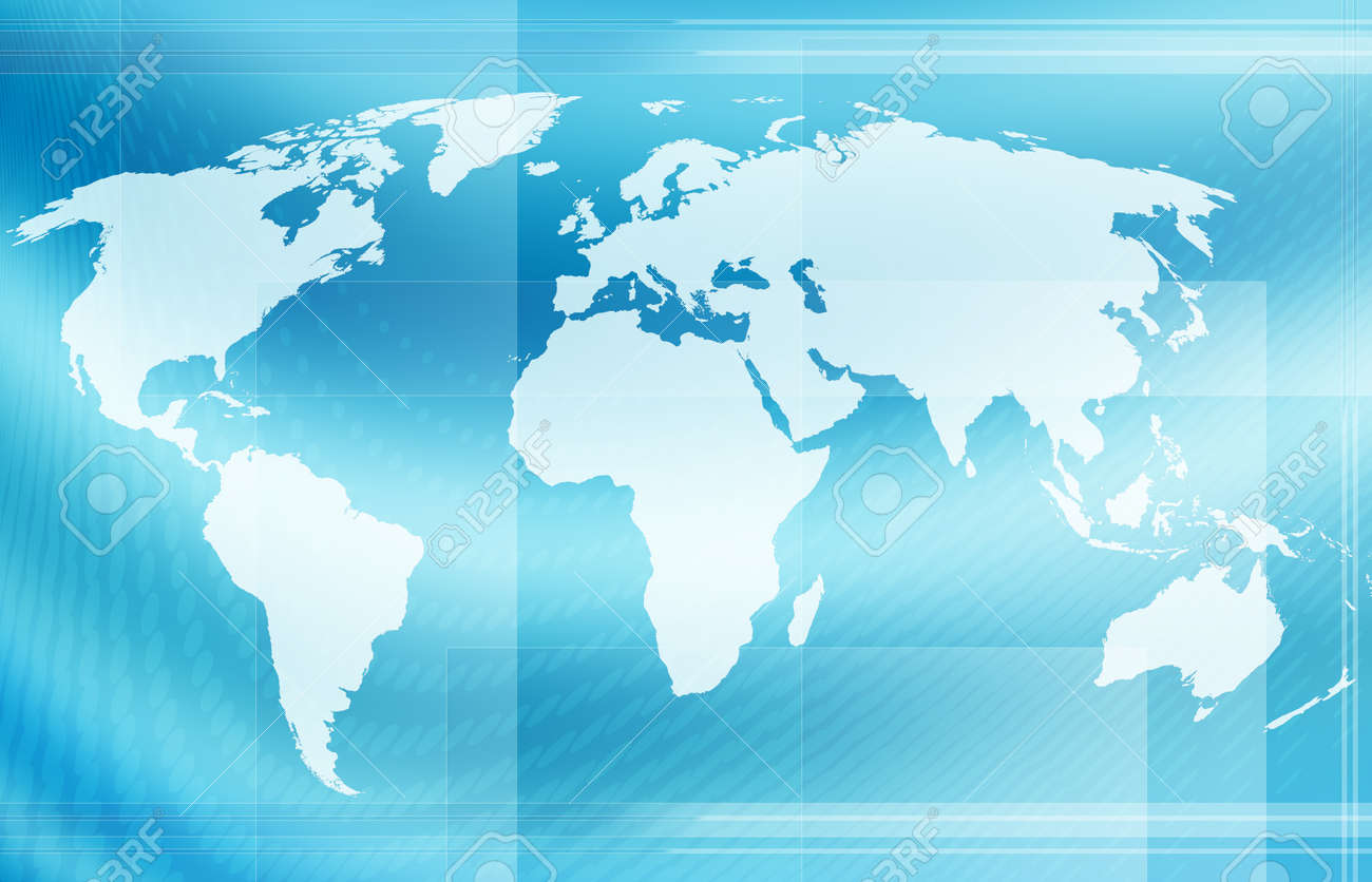 Computer designed abstract world map background map is hand stock computer designed abstract world map background map is hand traced from a public domain map gumiabroncs Choice Image