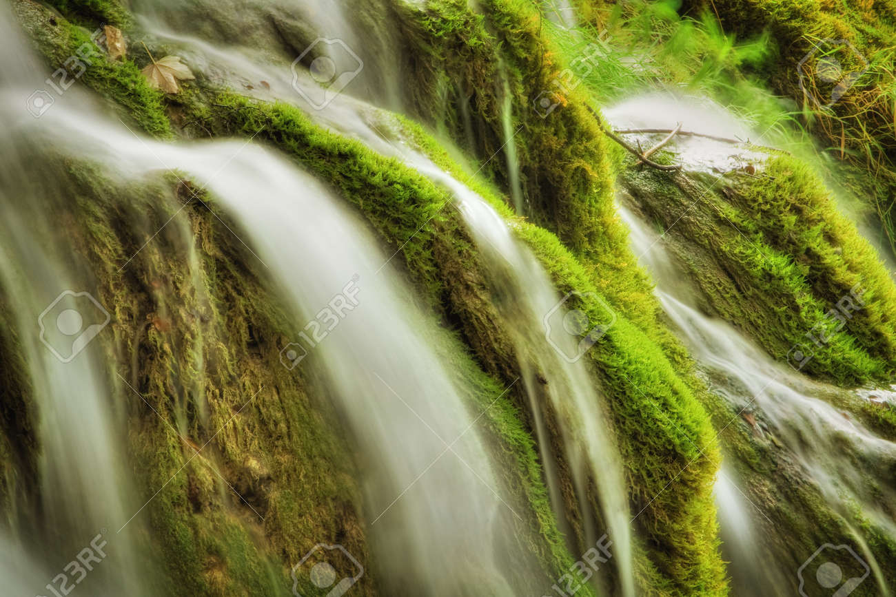 Beautiful waterfall at Plitvice Lakes National Park Stock Photo - 11121965