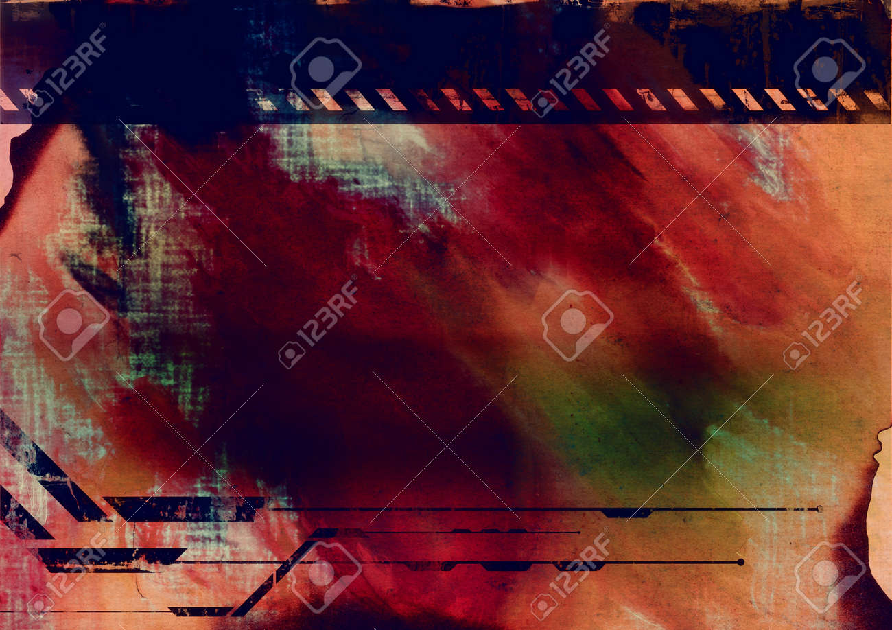 Computer designed highly detailed grunge abstract textured collage. Nice background for your projects. Stock Photo - 11120434