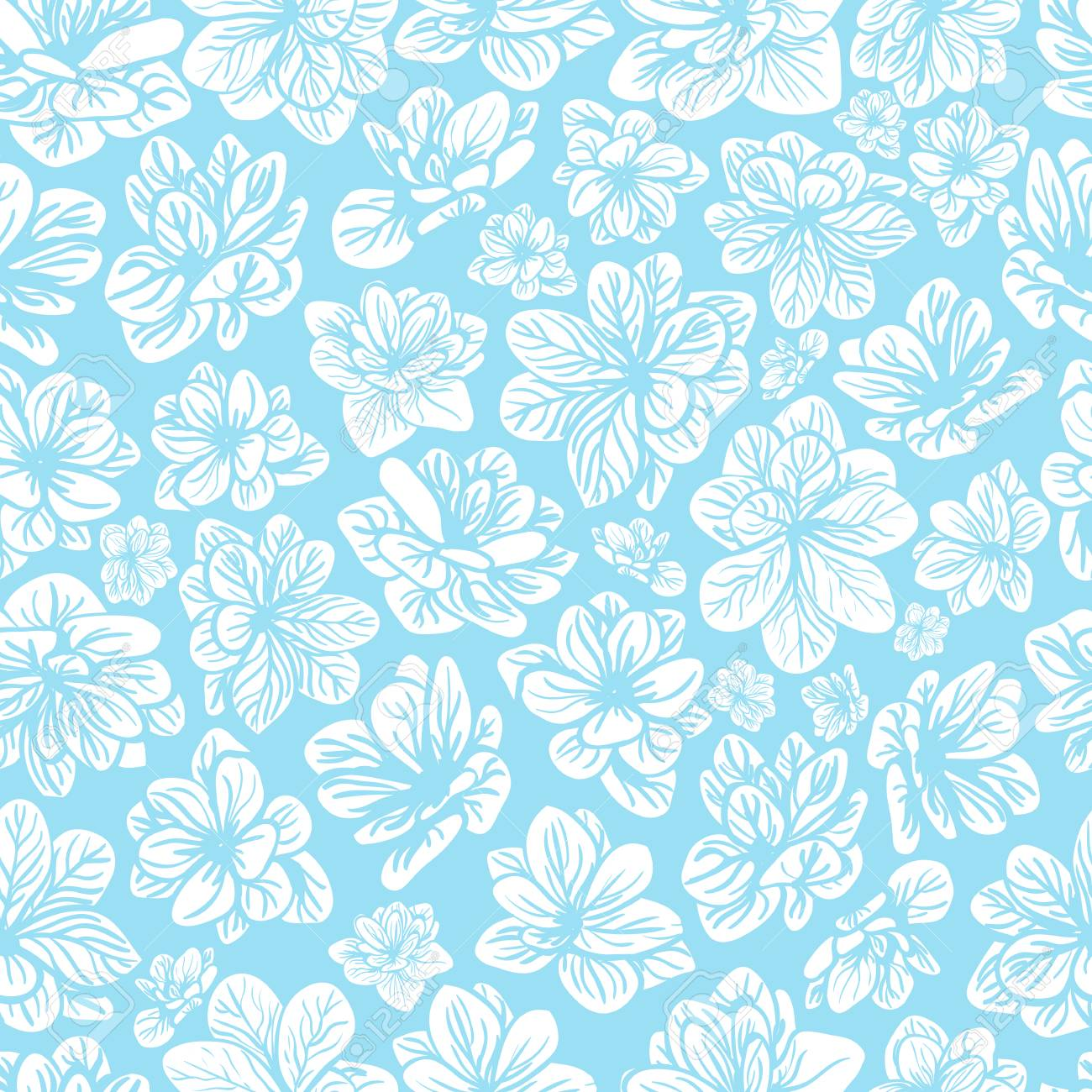 Floral background with blue flowers seamless pattern royalty free floral background with blue flowers seamless pattern stock vector 54501535 izmirmasajfo