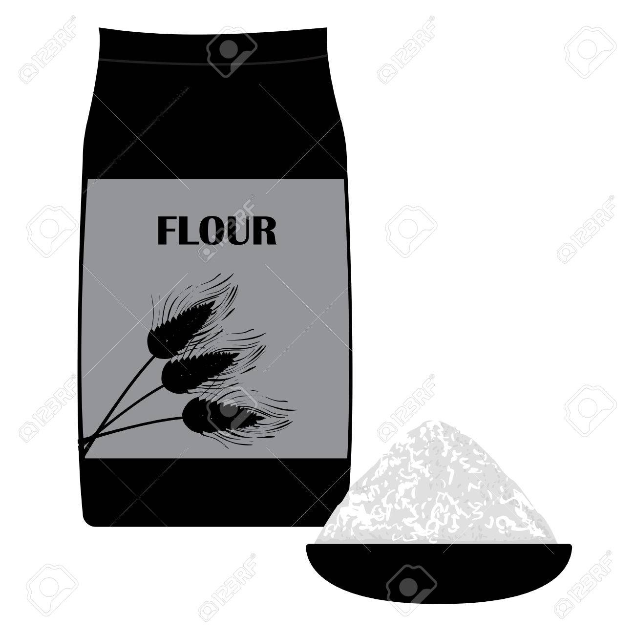vector black and white illustration of of wheat flour in the royalty free cliparts vectors and stock illustration image 61661272 vector black and white illustration of of wheat flour in the