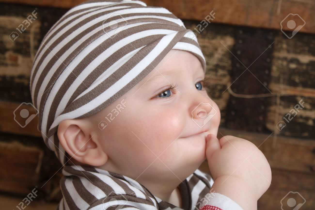 6c9edbf71 Cute Baby Boy With Big Blue Eyes Stock Photo