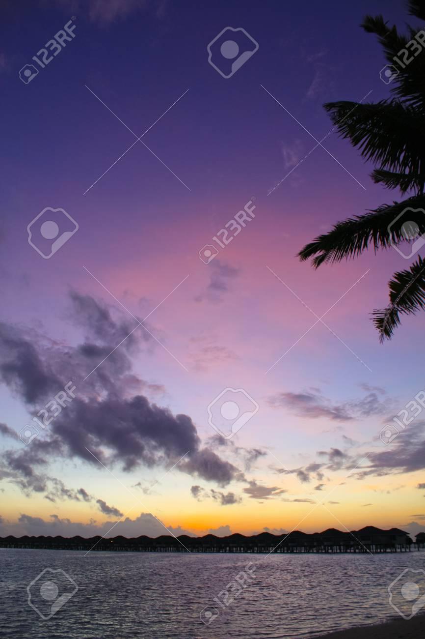 Tropical sunset Stock Photo - 11469194
