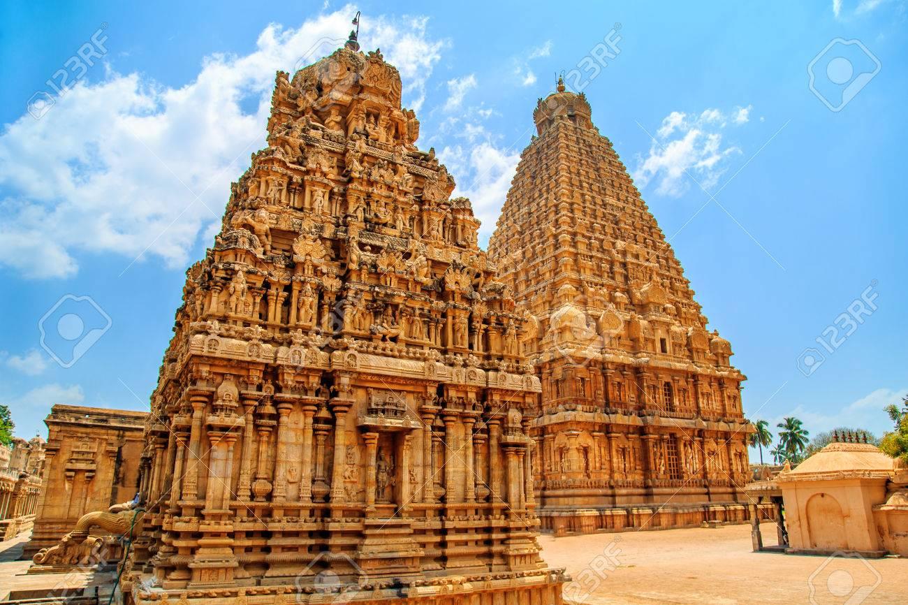 Brihadeeswara Temple in Thanjavur, Tamil Nadu, India  One of