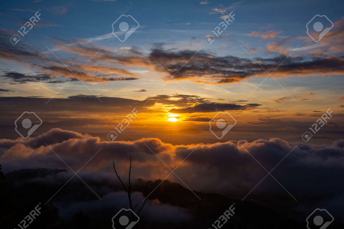 A break of dawn, as sun rises on a new day - 158691895