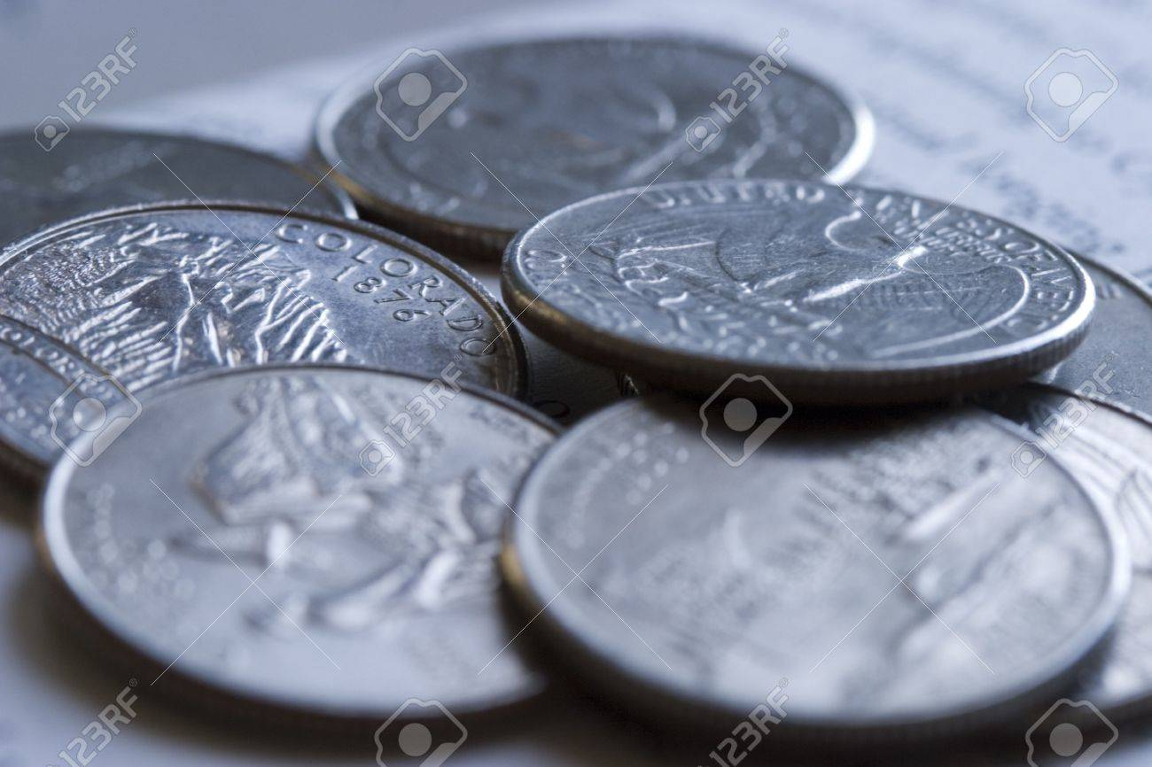 US quarter coins Stock Photo - 2834858
