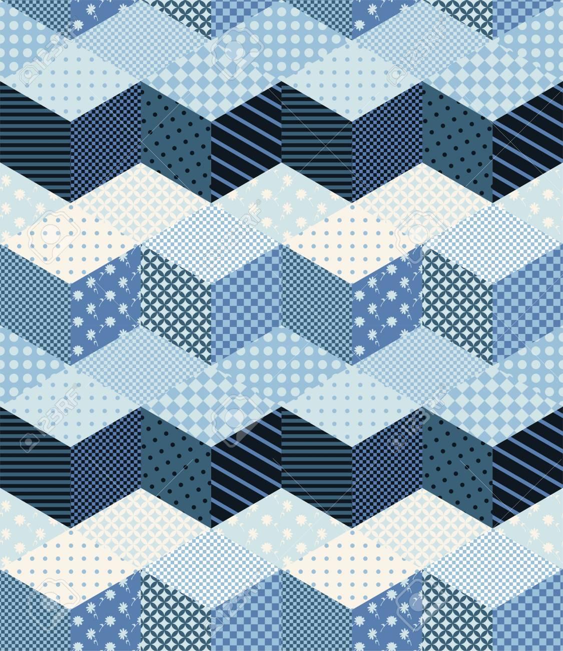 Nahtlose Patchwork Muster Mit Rosen Leinwandbilder 14