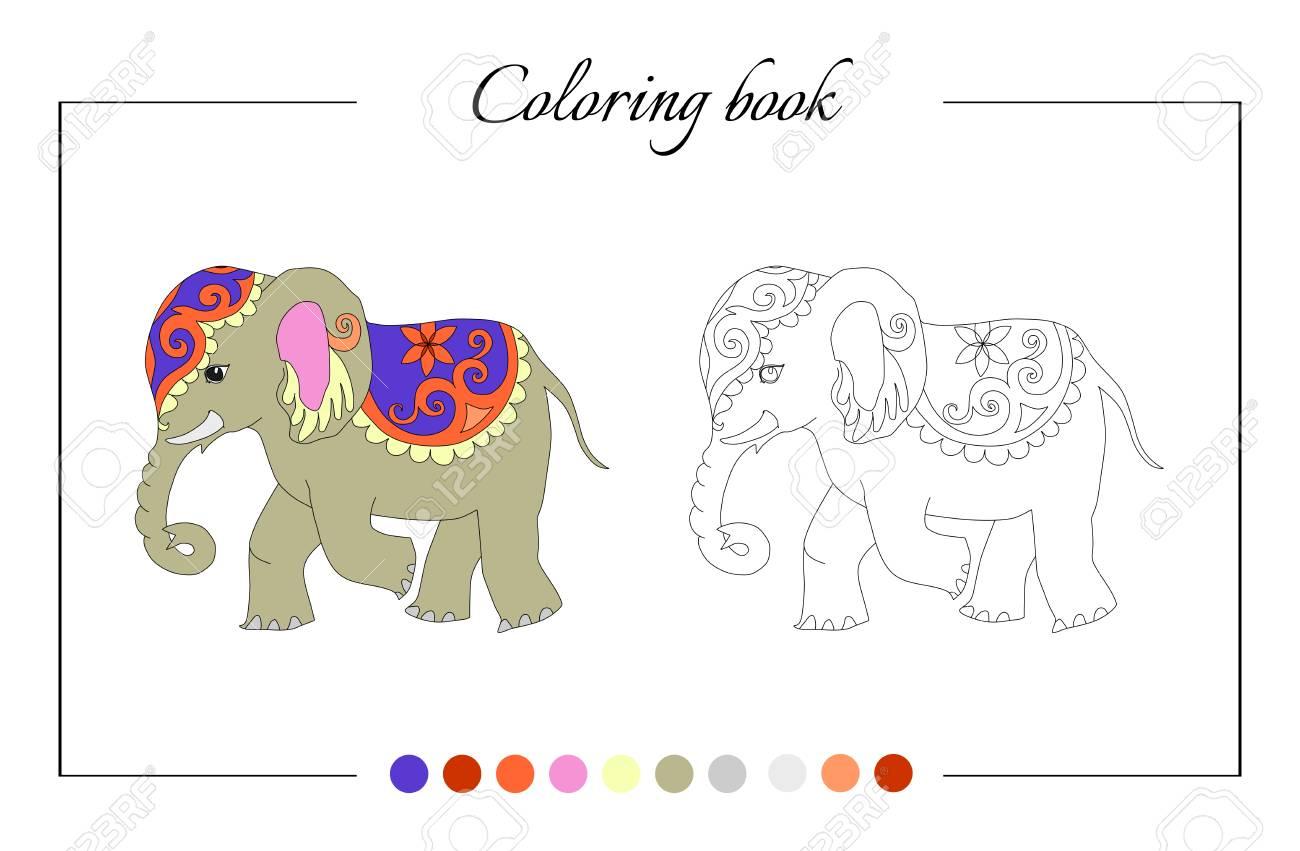 Encantador Lindos Elefantes Para Colorear Imágenes - Dibujos Para ...