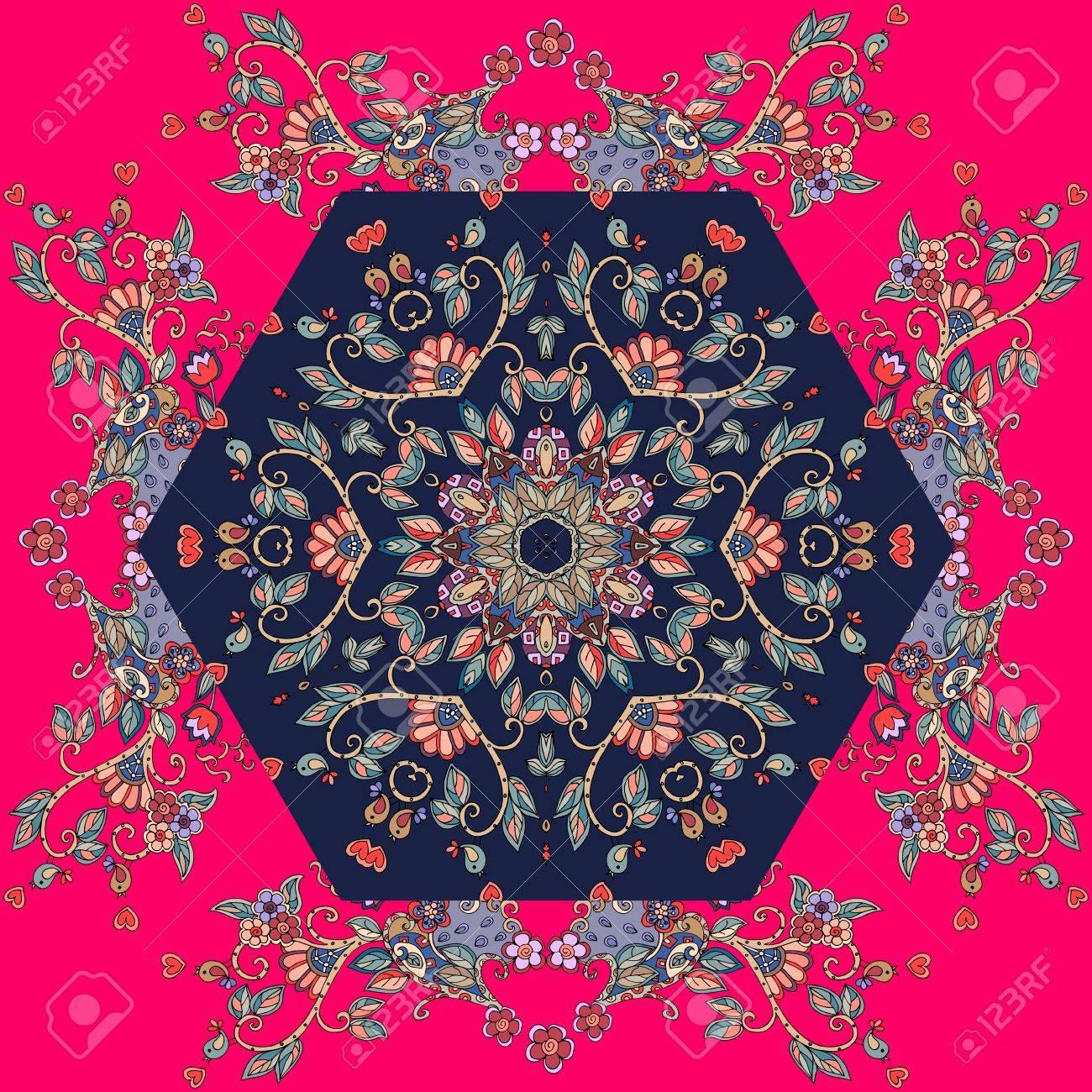 raccolto stili freschi ben noto Vettoriale - Decorativi Ornamento Floreale. Può Essere Usato Per ...