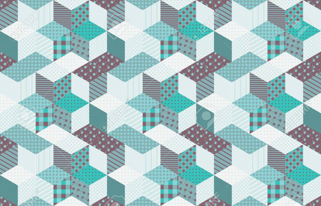 Seamless Patchwork Pattern From Different