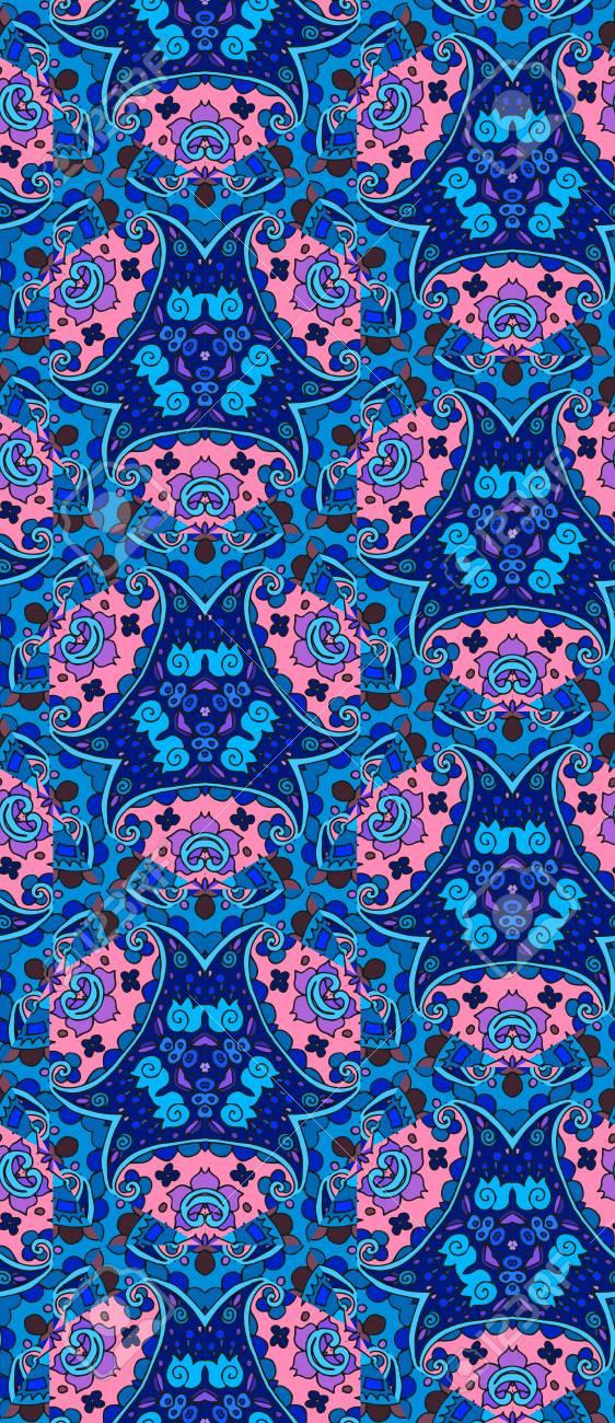 ethnische detaillierten floralen und paisley nahtlose muster vektor illustration - Bettwasche Paisley Muster