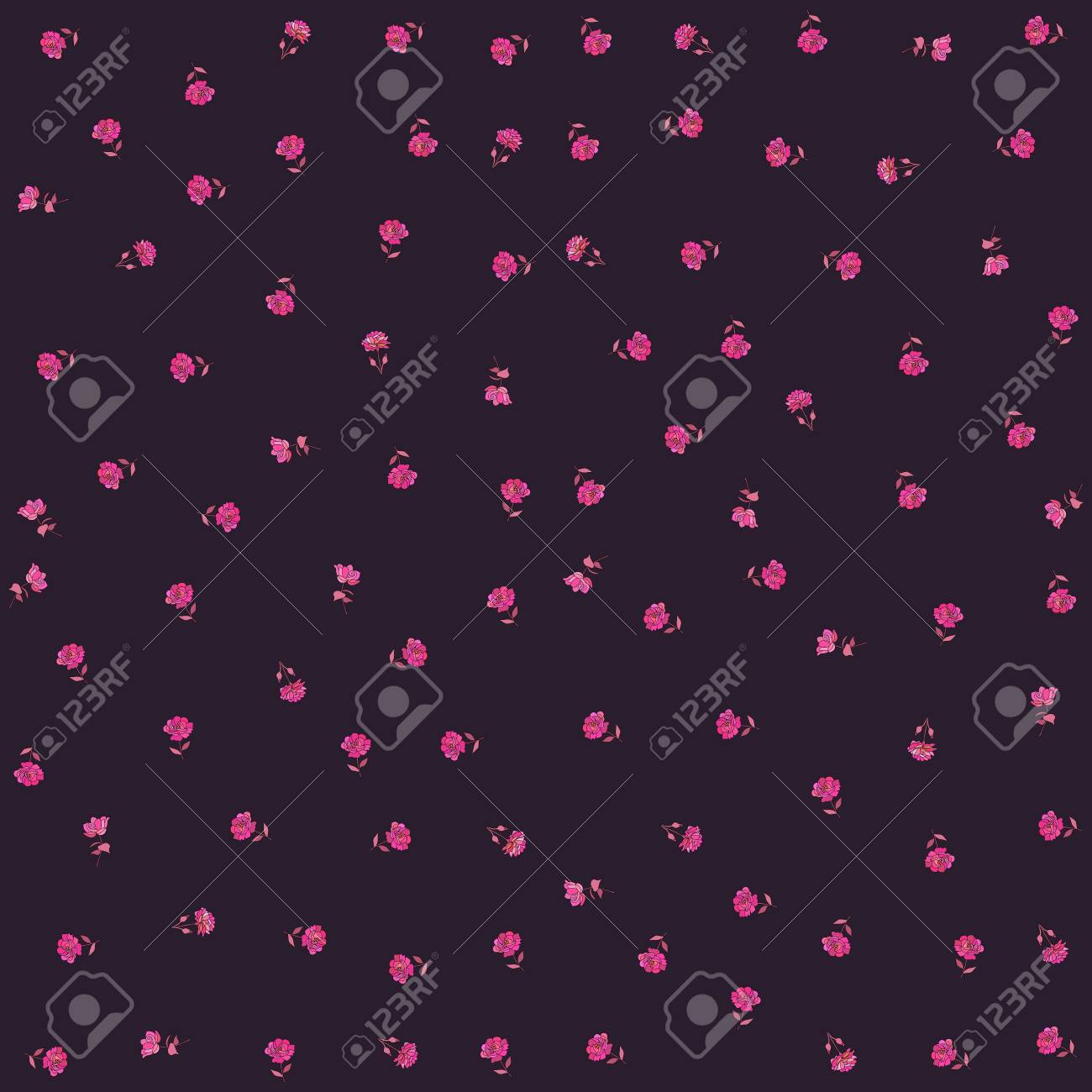 Little Crimson Rose Flowers Isolated On Black Background Print Stock Photo Picture And Royalty Free Image Image 114146946