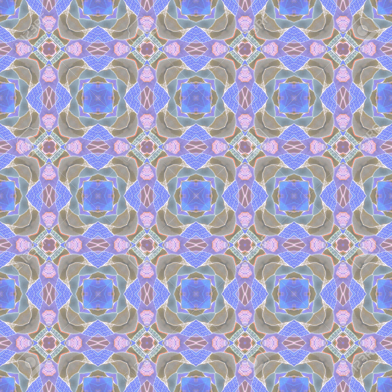 Abstract seamless pattern with regular ornament. Print for fabric, textile, wrapping paper. - 173407848