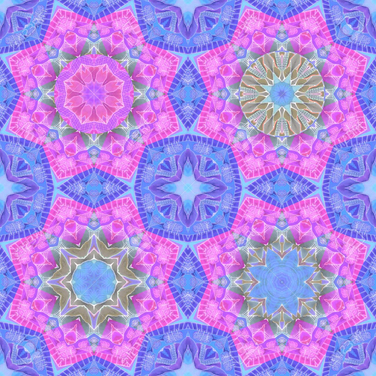 Ornamental seamless pattern with watercolor mandalas. Beautiful print for fabric. - 173407850