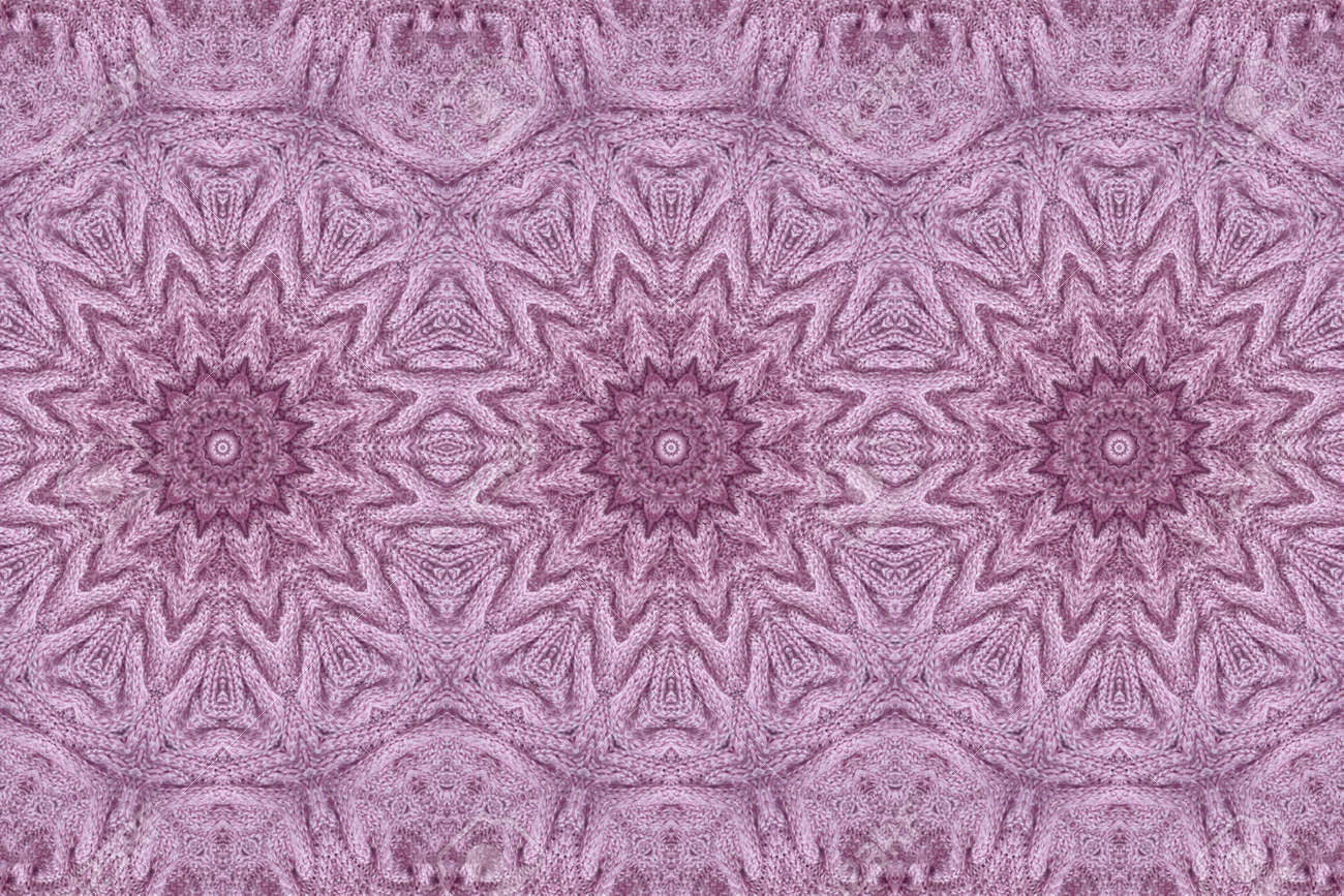Beautiful seamless pattern with knitted mandalas. Print for fabric and textile. - 173407857